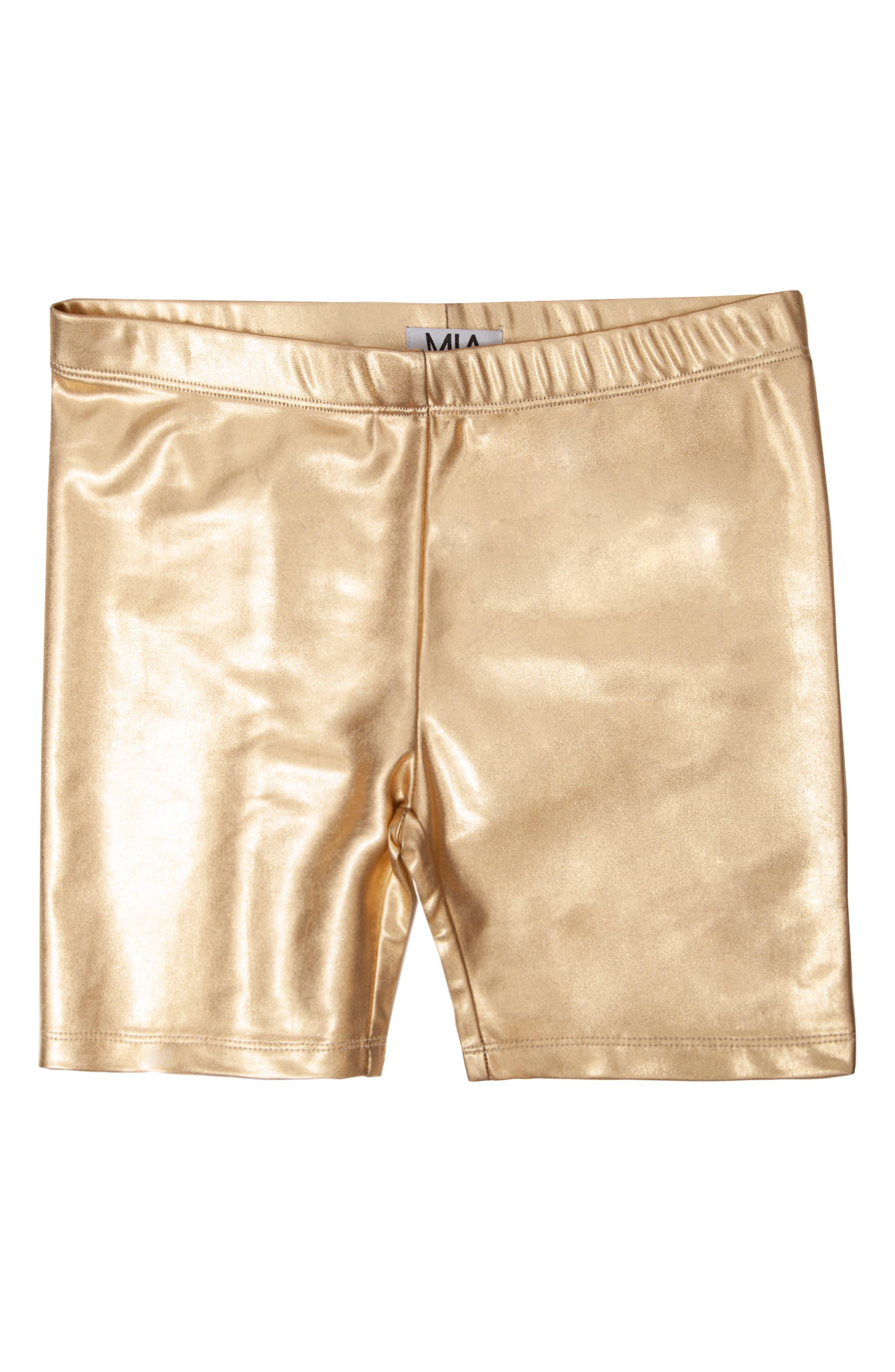 MIA New York Girl's Mia New York Bike Shorts, Size S - Metallic