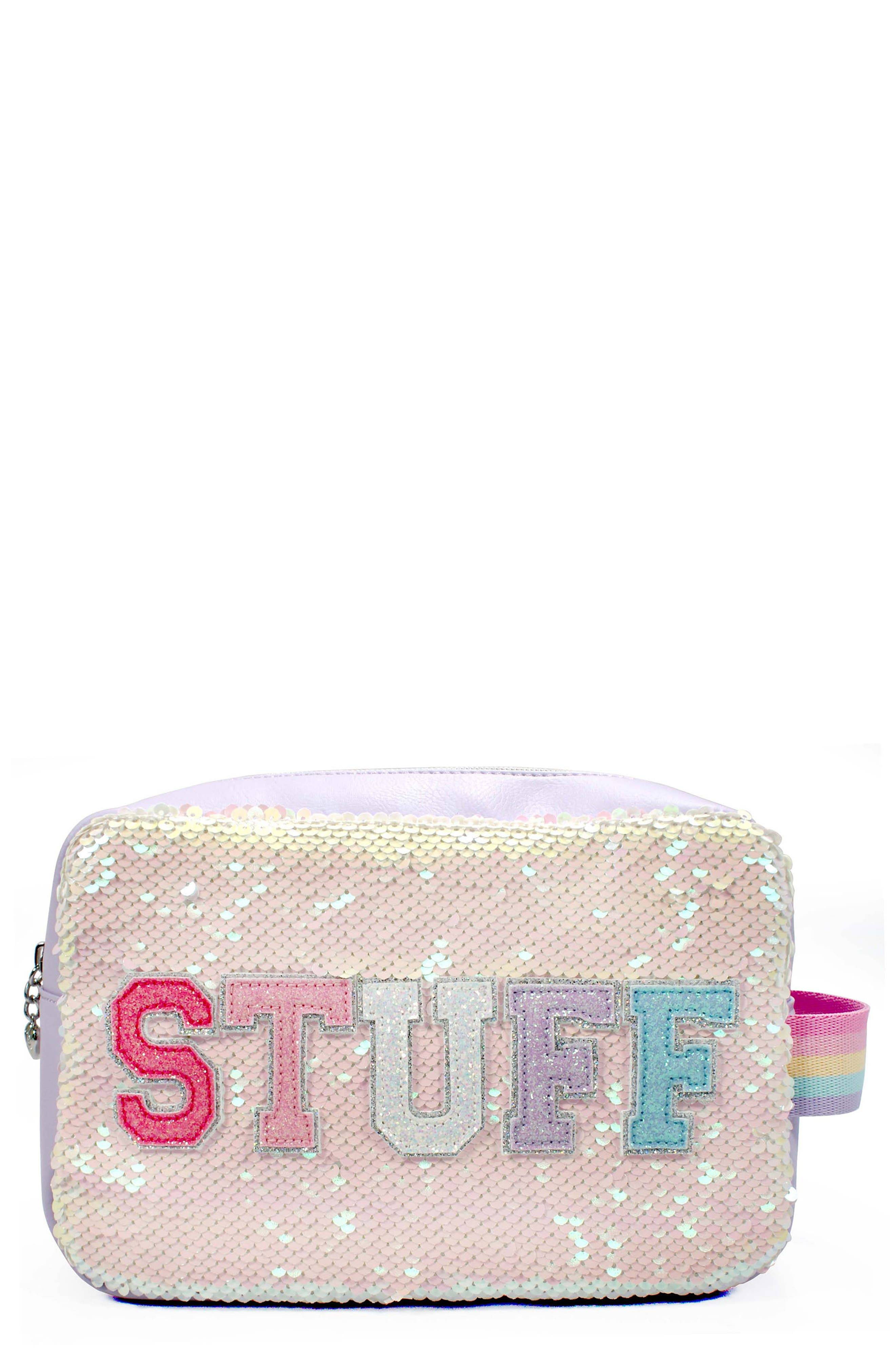 OMG Accessories Girl's Omg Stuff Sequin Pouch - Purple