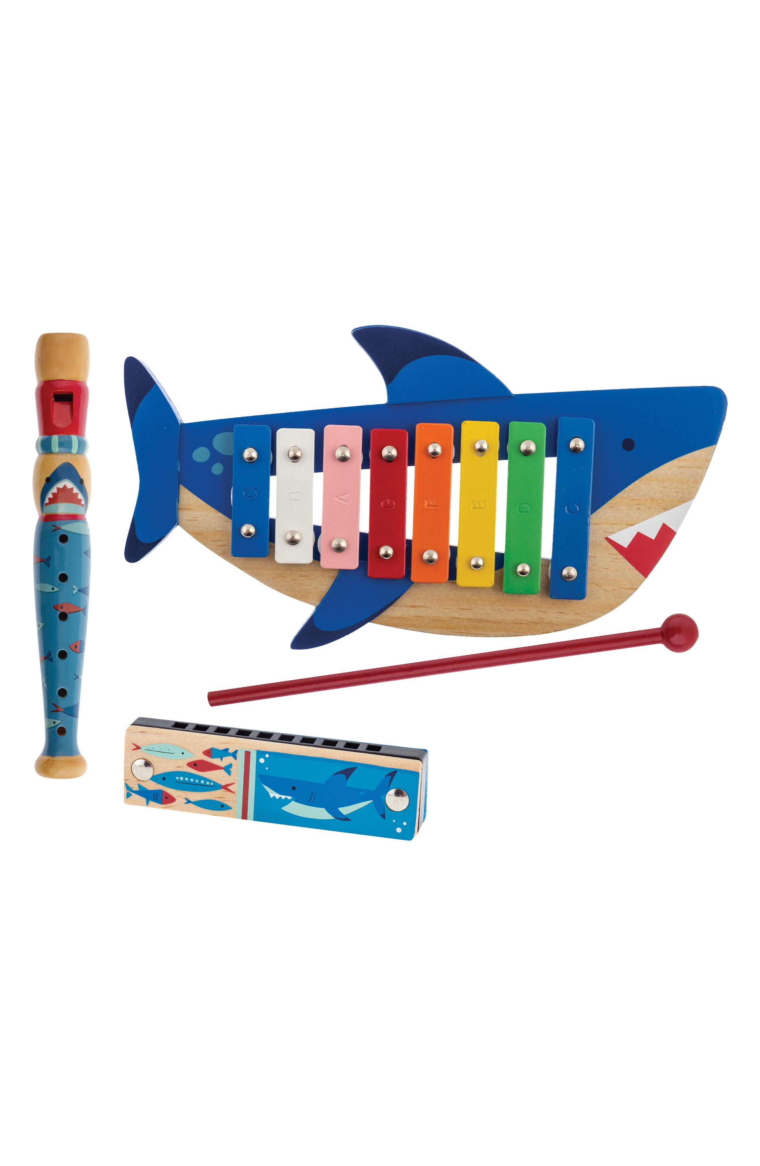 Stephen Joseph 4-Piece Shark Music Set