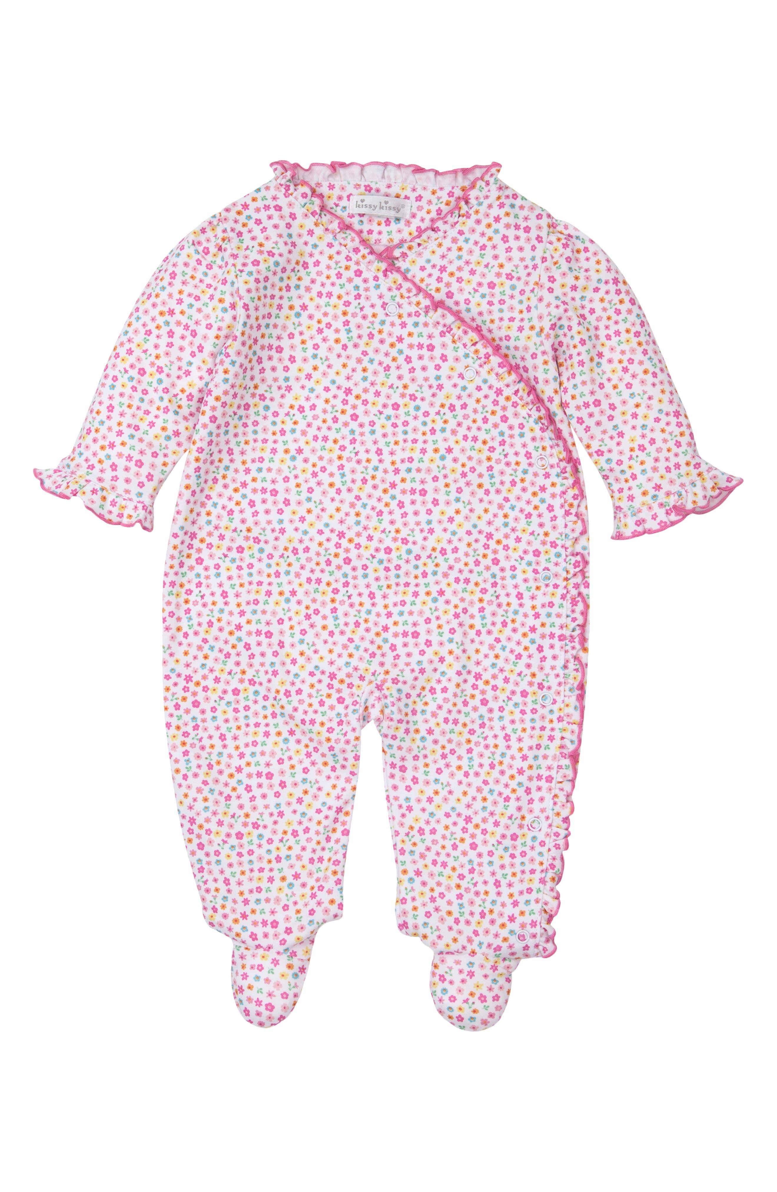 Kissy Kissy Infant Girl's Kissy Kissy Unicorn Gardens Wrap Footie, Size 3-6M - Pink