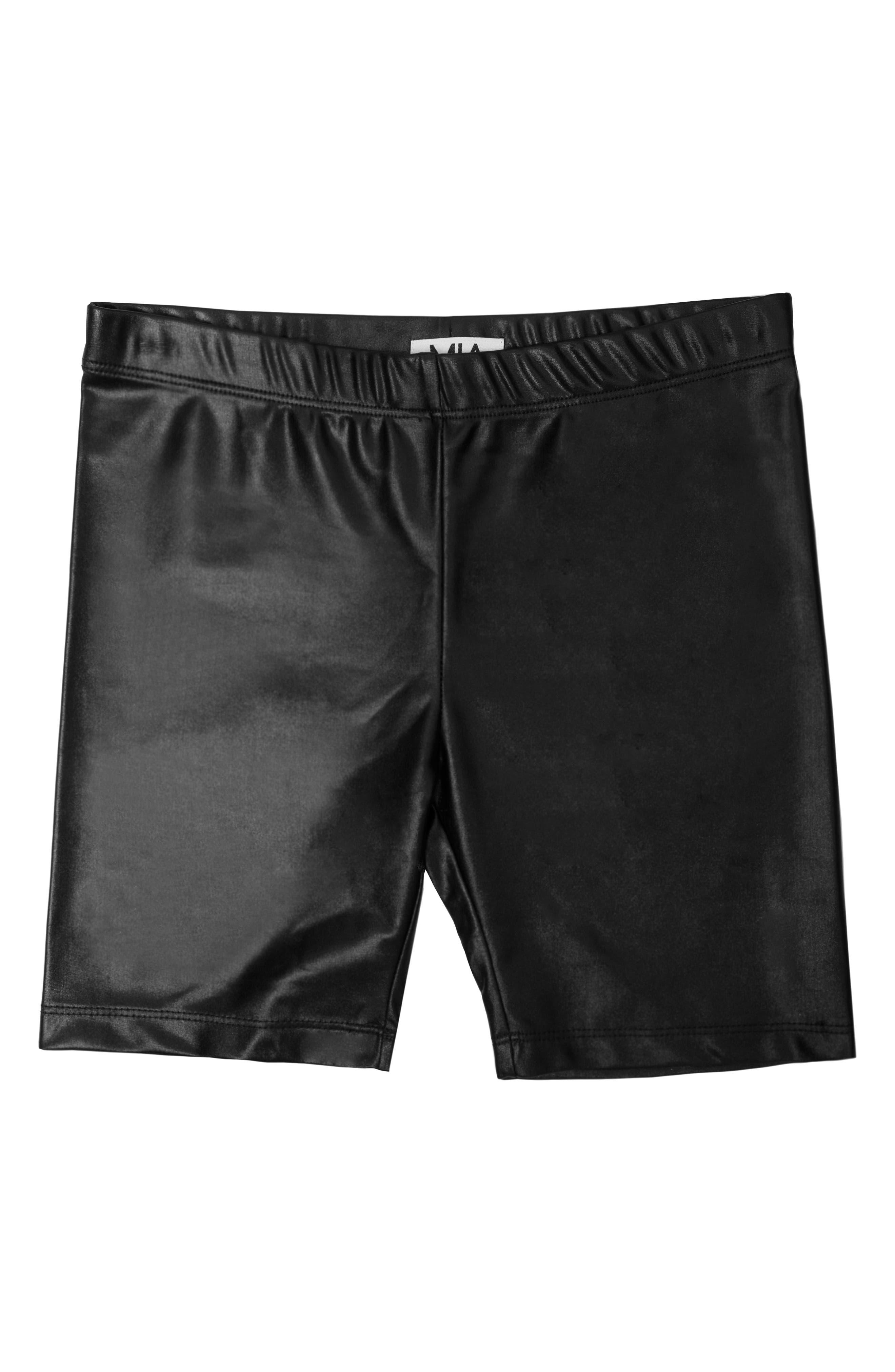 MIA New York Girl's Mia New York Bike Shorts, Size L - Black