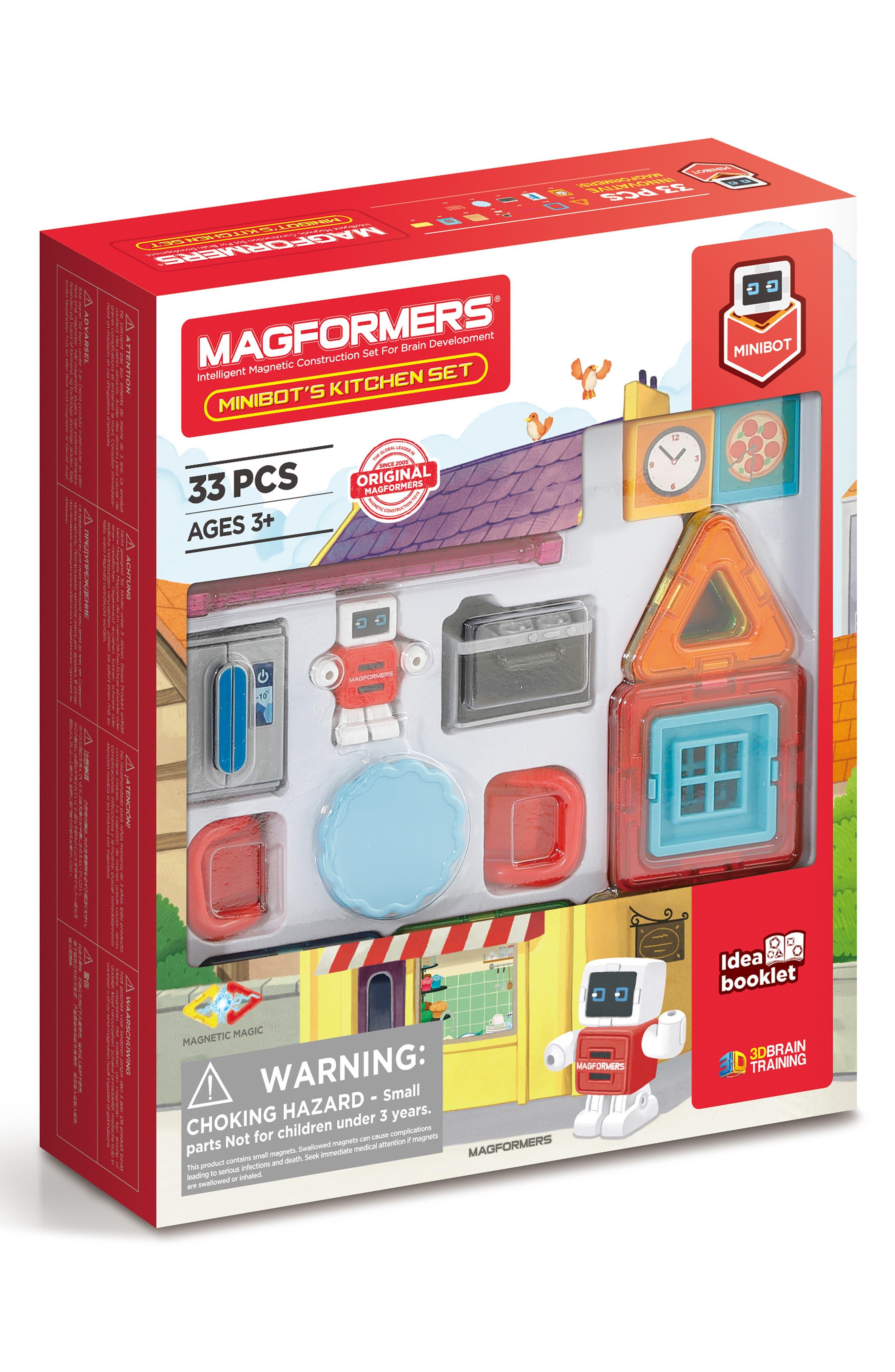 Magformers Minibot Kitchen 33-Piece Magnetic Construction Set
