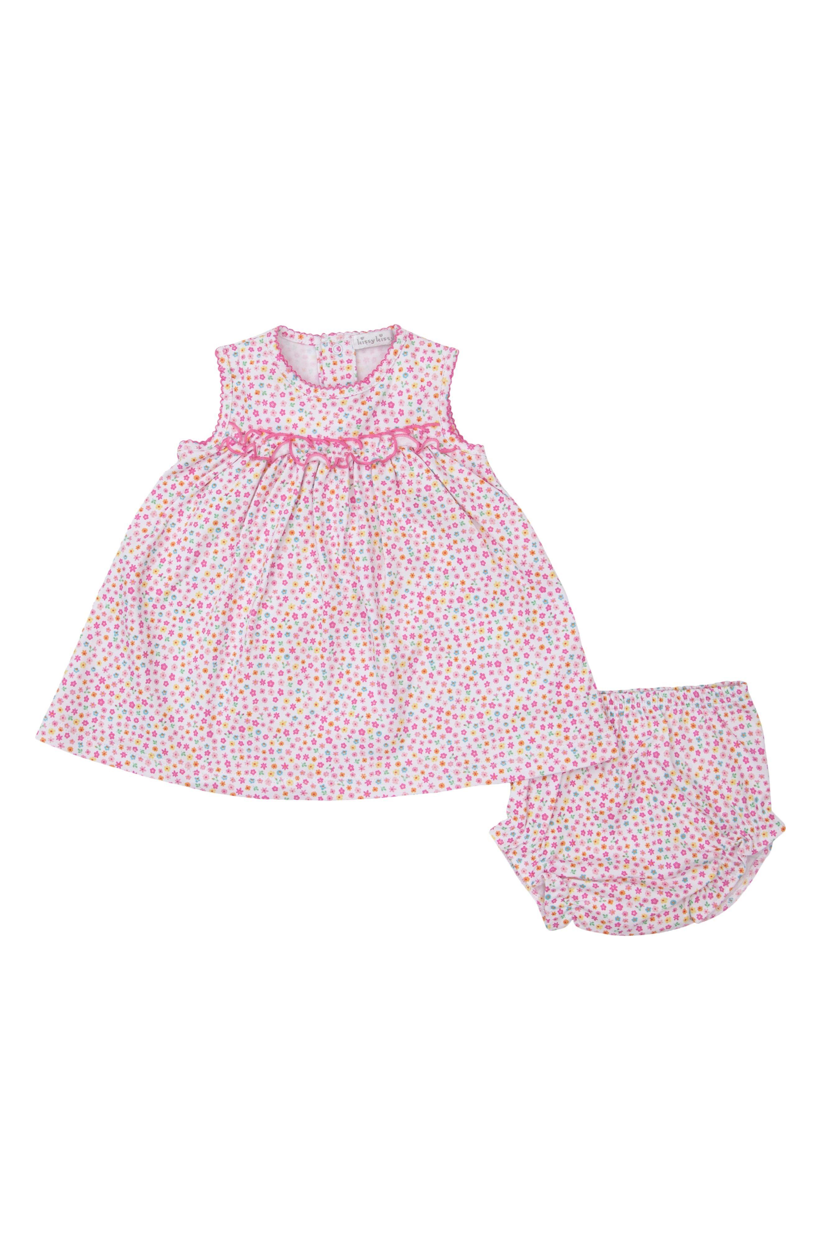 Kissy Kissy Infant Girl's Kissy Kissy Unicorn Gardens Print Dress, Size 12-18M - Pink