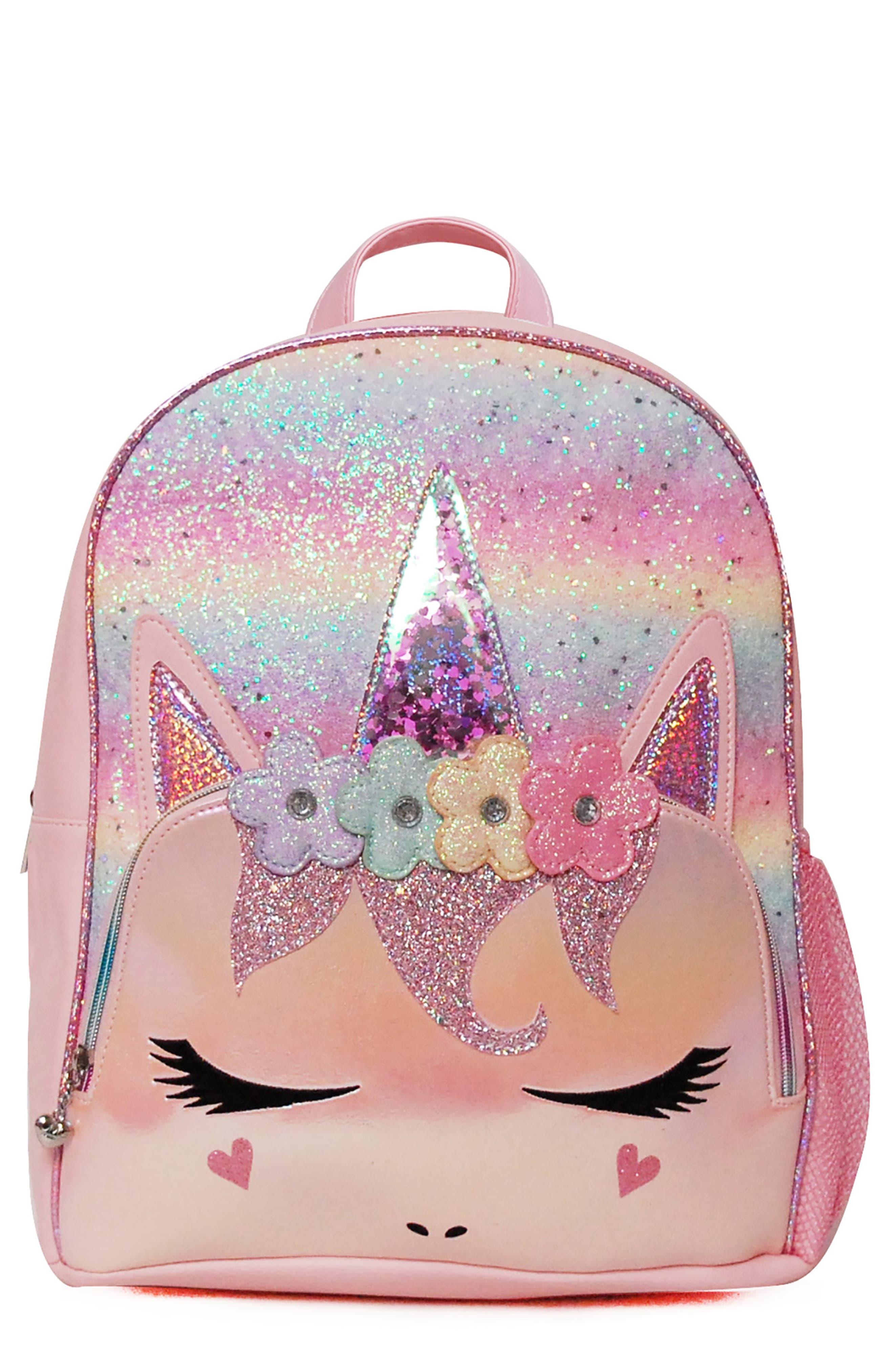 OMG Accessories Girl's Omg Flower Crown Miss Gwen Unicorn Backpack - Pink