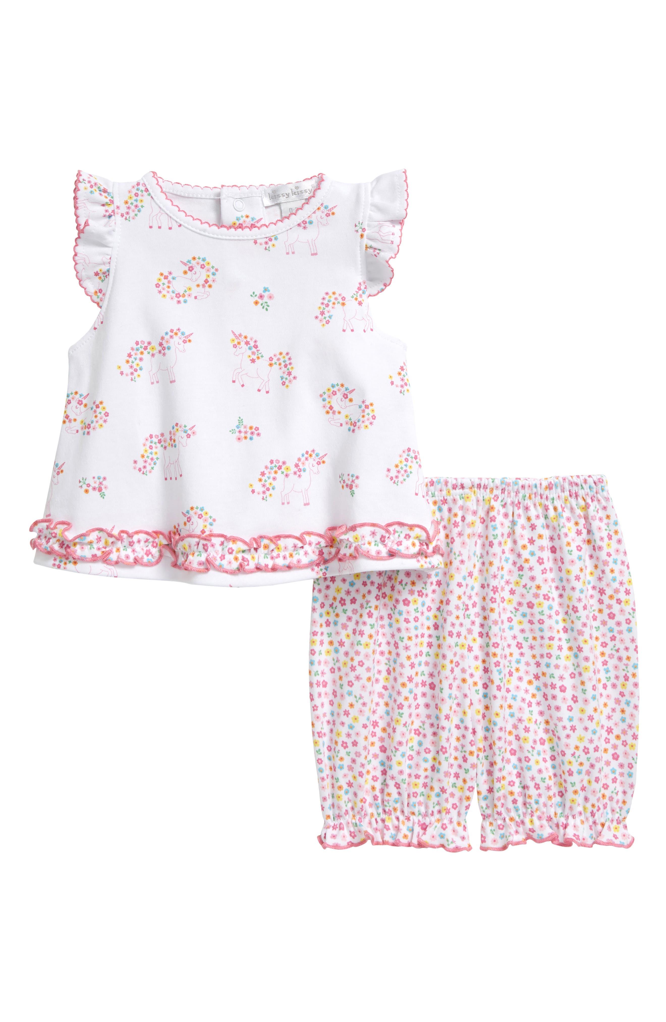 Kissy Kissy Infant Girl's Kissy Kissy Unicorn Gardens Top & Pants Set