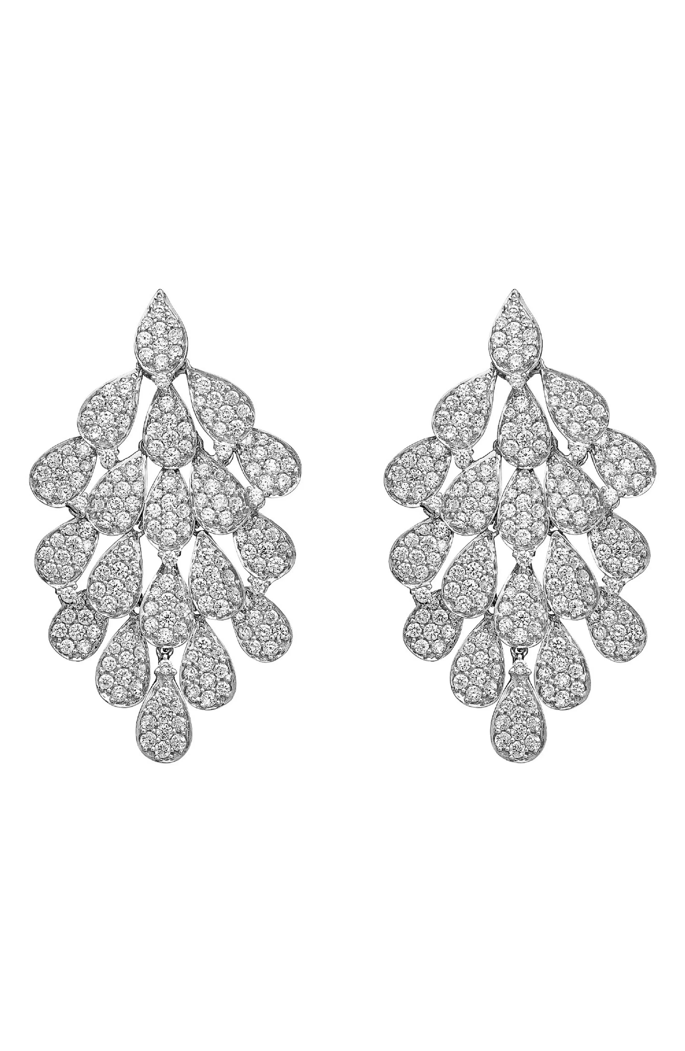 Hueb Women's Hueb Secret Garden Diamond Chandelier Earrings