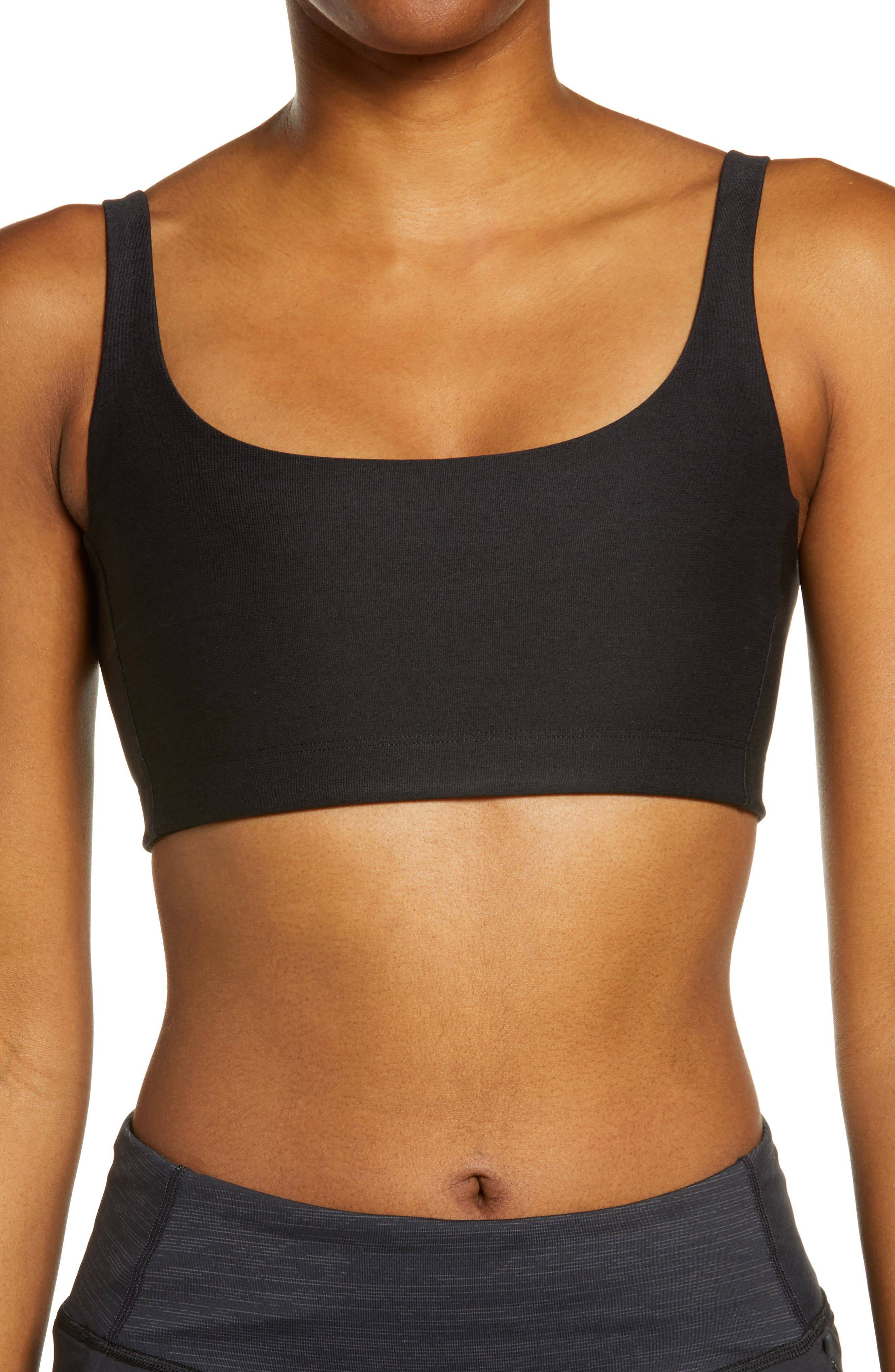 Outdoor Voices Women's Outdoor Voices Double Time Sports Bra, Size X-Large - Black