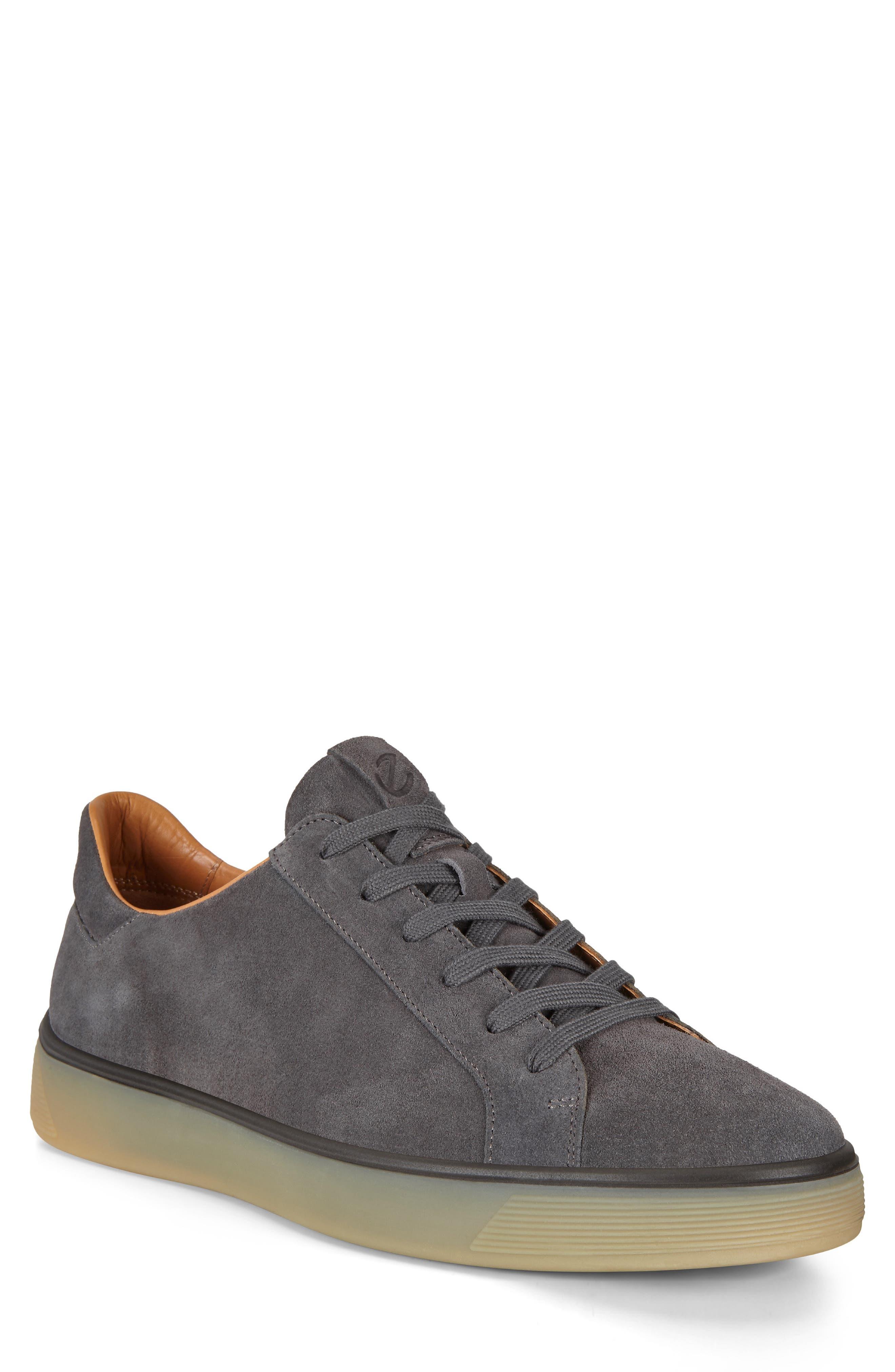 ECCO Men's Ecco Street Tray Suede Sneaker, Size 13-13.5US - Grey
