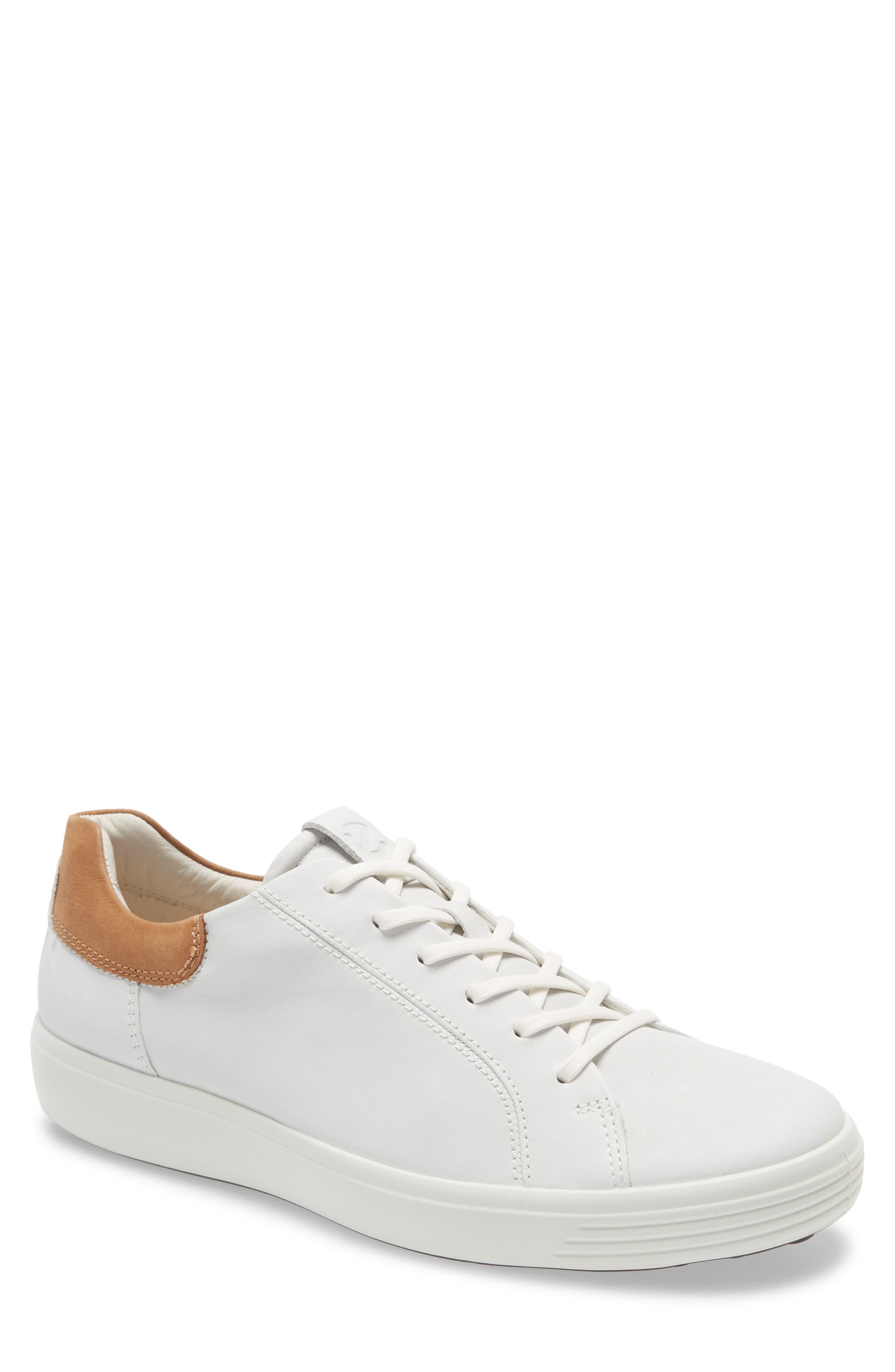 ECCO Men's Ecco Soft 7 Sneaker, Size 5-5.5US - White