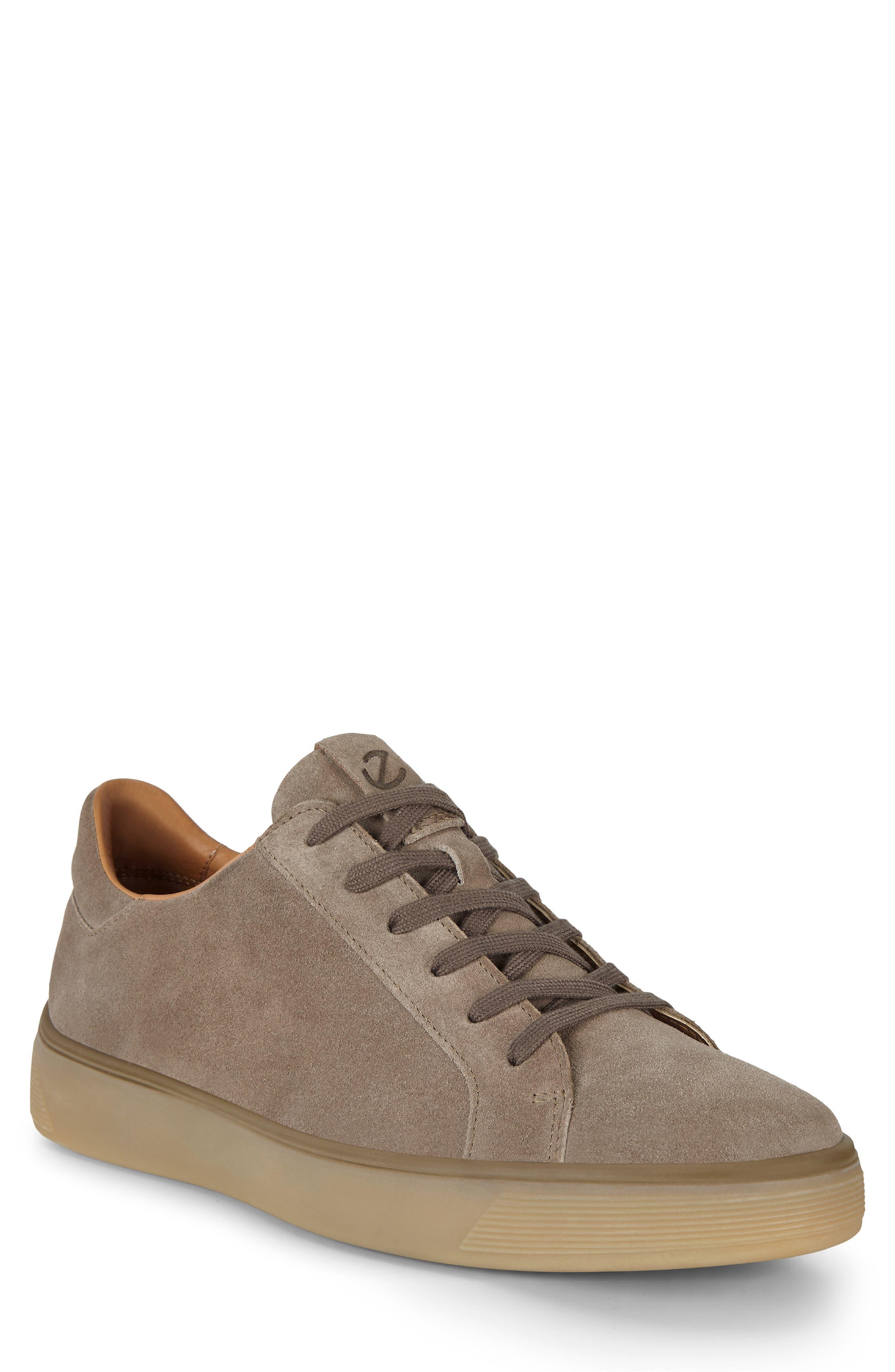 ECCO Men's Ecco Street Tray Suede Sneaker, Size 11-11.5US - Brown