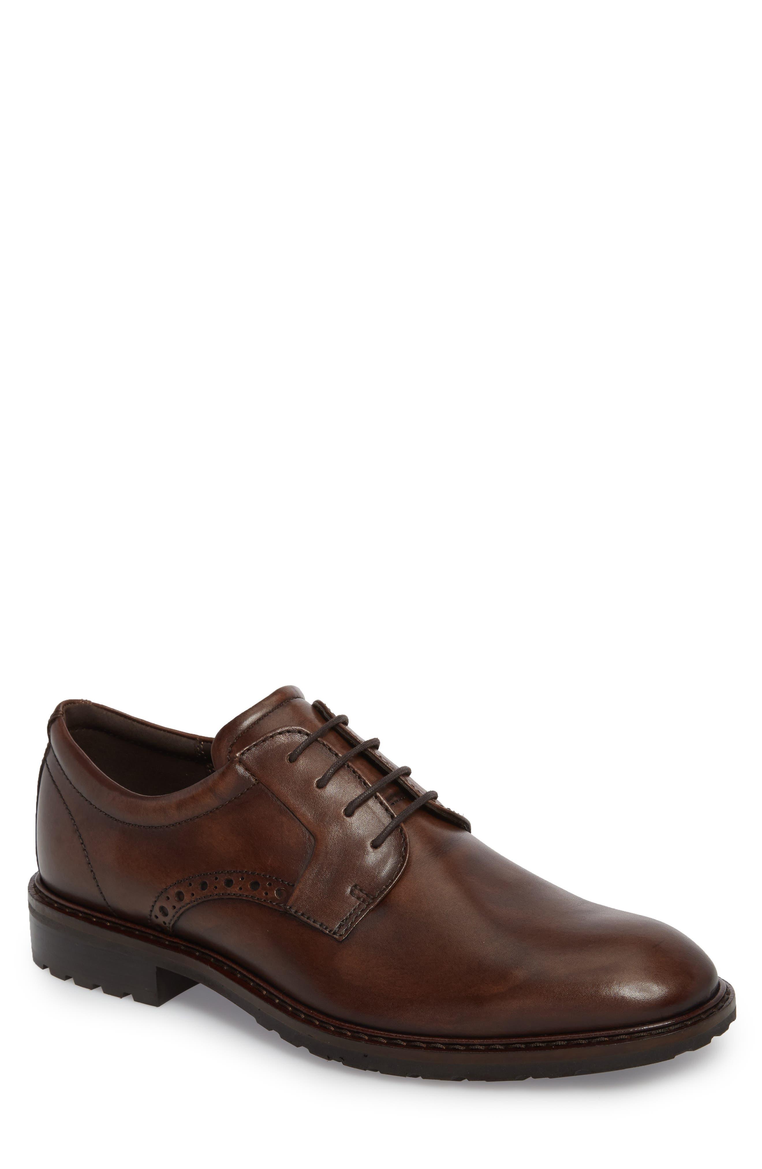 ECCO Men's Ecco Vitrus I Plain Toe Derby, Size 7-7.5US - Brown