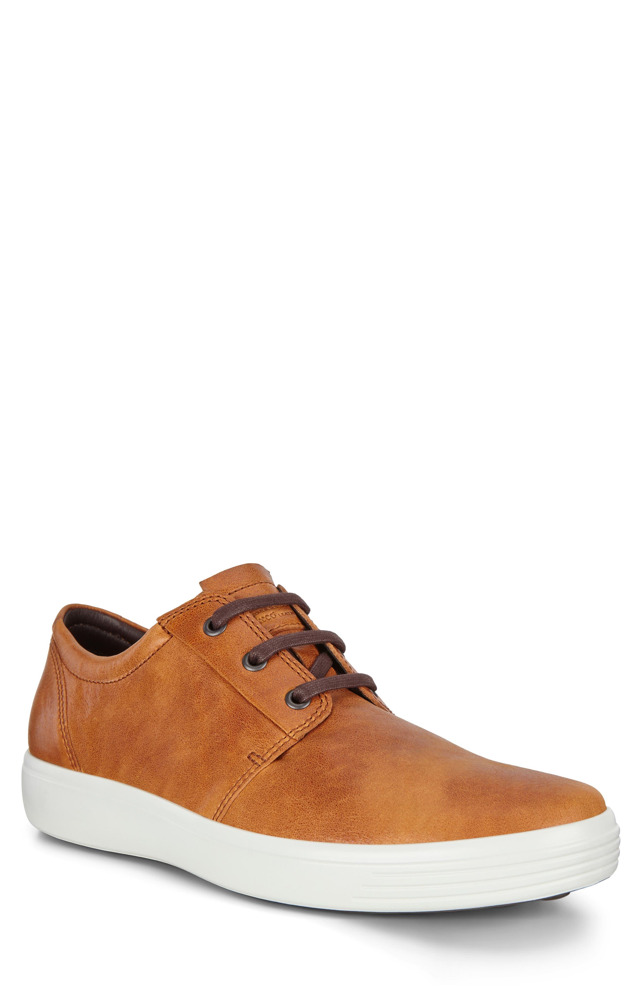 ECCO Men's Ecco Soft 7 Plain Toe Sneaker, Size 10-10.5US - Brown