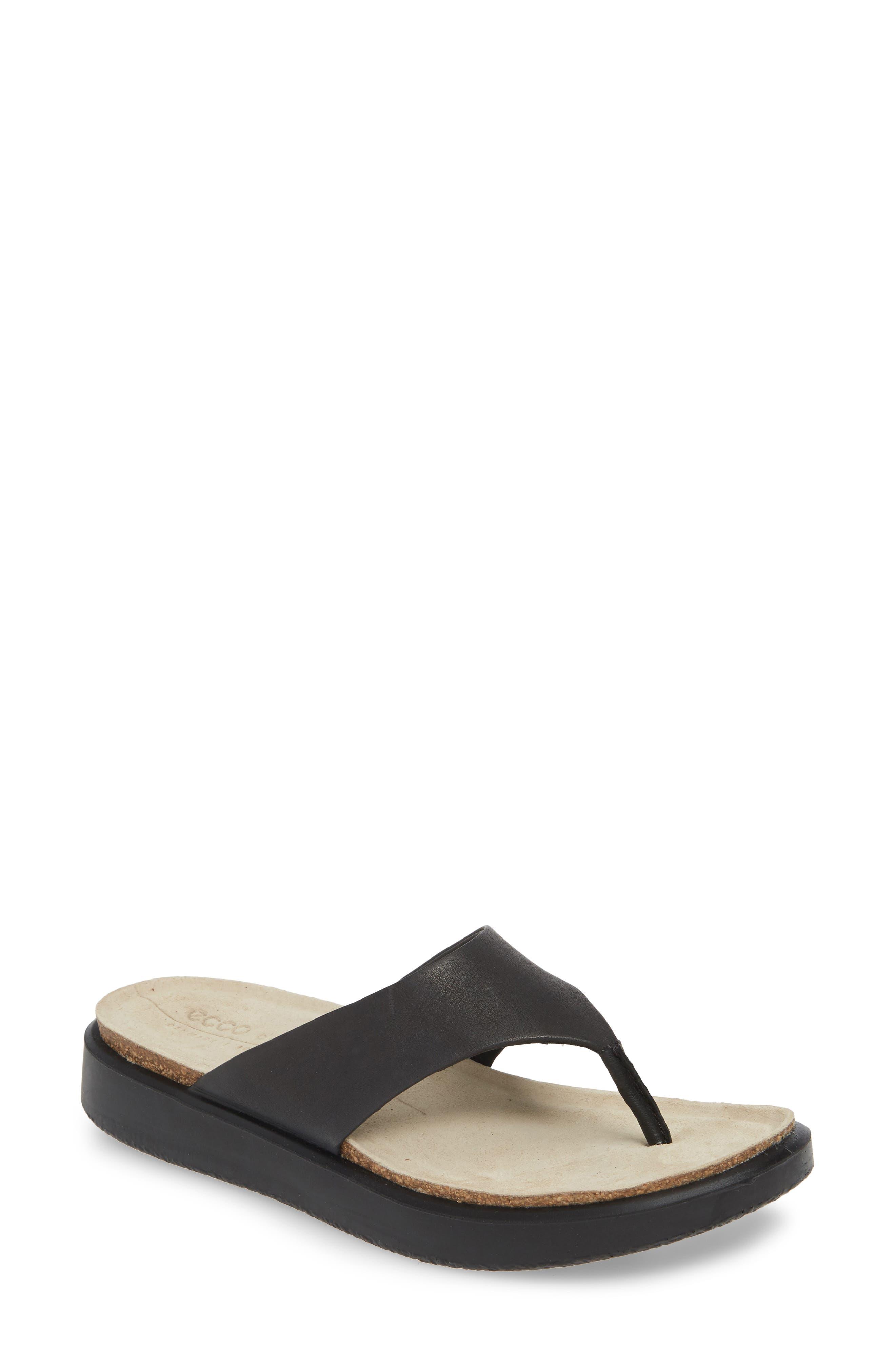 ECCO Women's Ecco Corksphere Flip Flop, Size 8-8.5US - Black