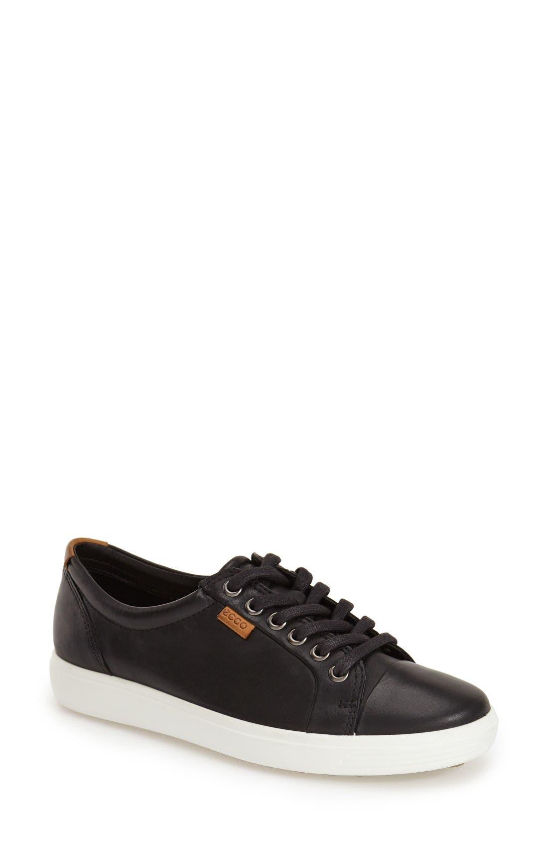ECCO Women's Ecco Soft 7 Sneaker, Size 11-11.5US - Black