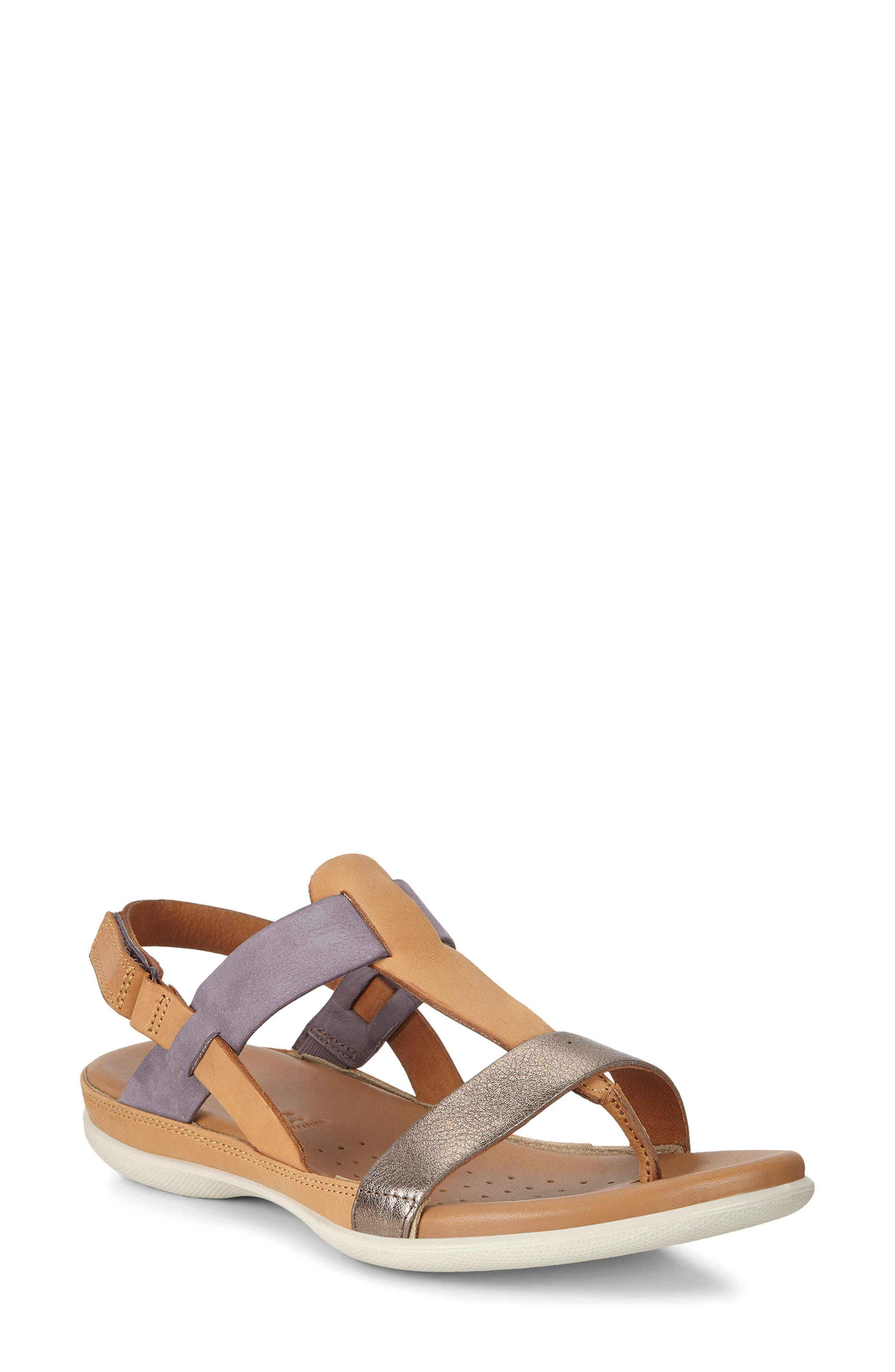 ECCO Women's Ecco Flash Toe Post Sandal, Size 6-6.5US - Beige