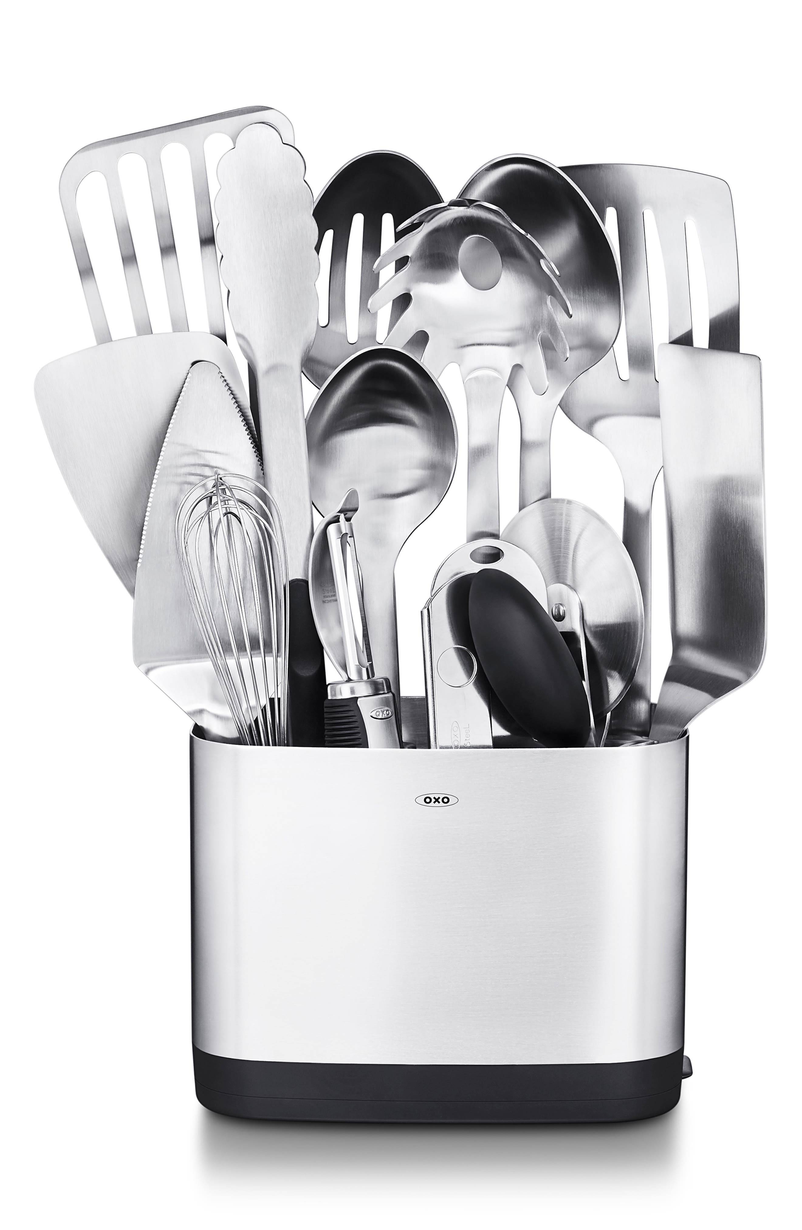 Oxo 15-Piece Kitchen Utensil Set, Size One Size - Metallic