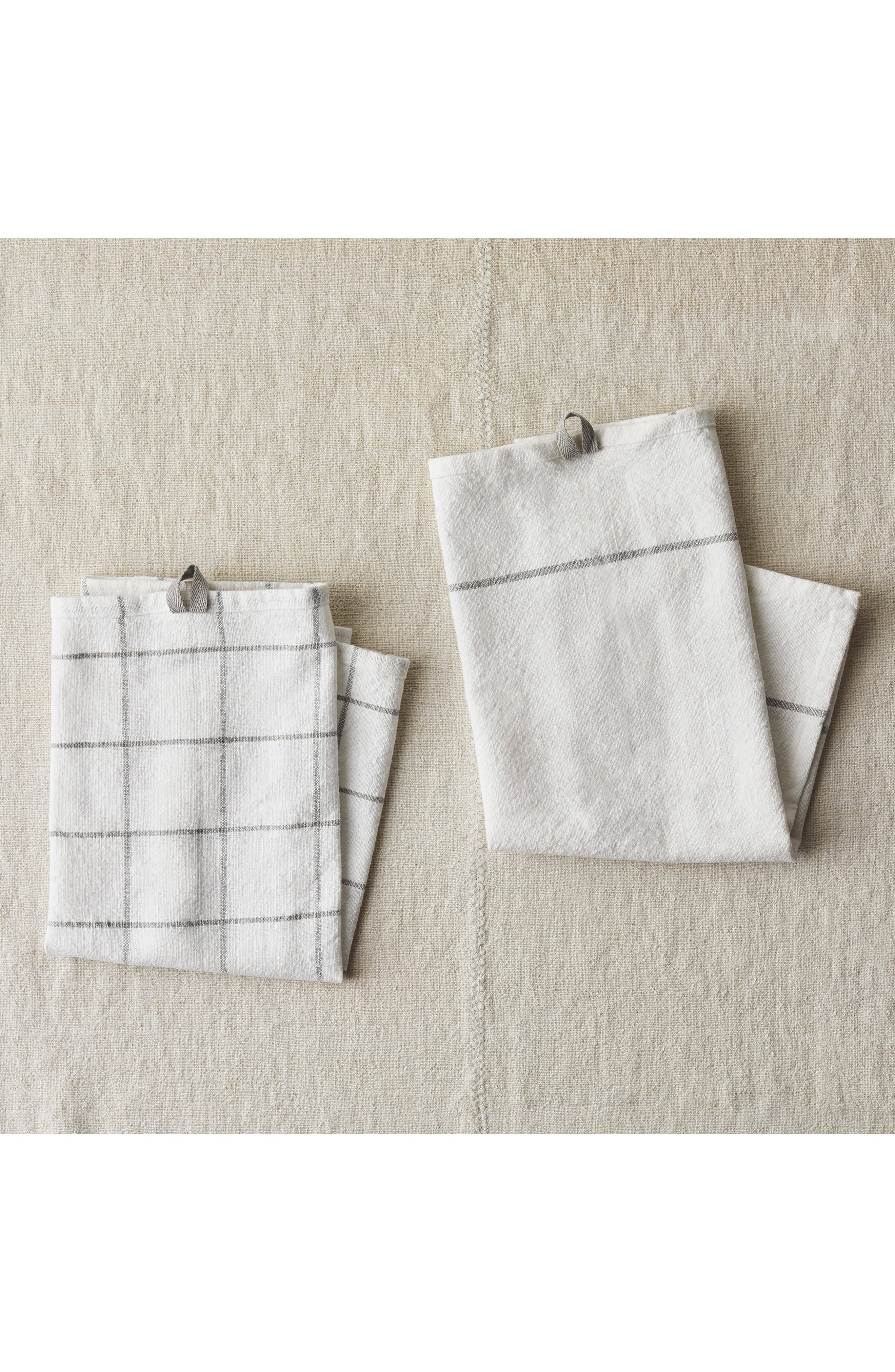 Five Two By Food52 Essential Set Of 2 Utility Kitchen Towels, Size One Size - Grey
