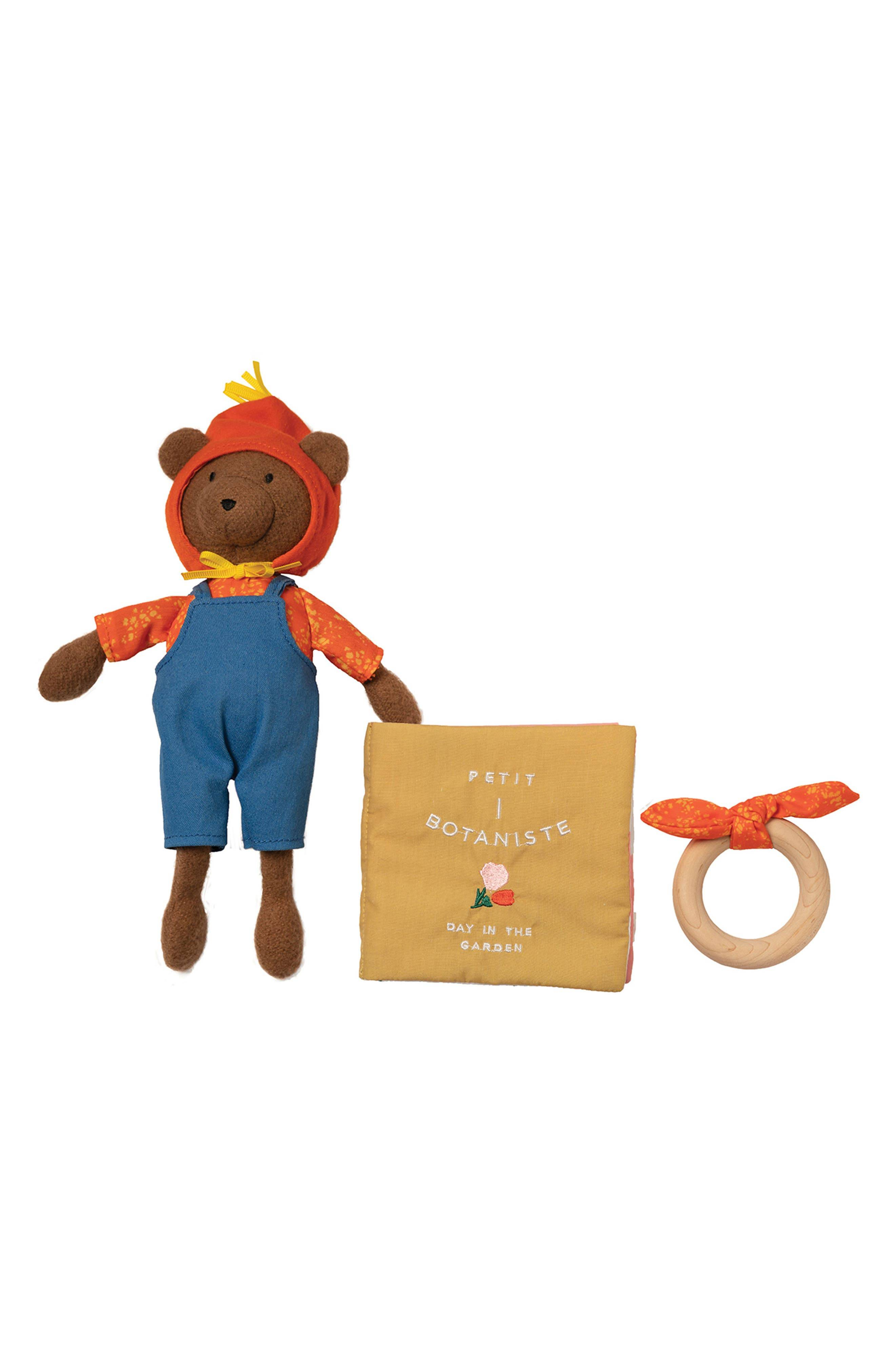 Manhattan Toy Girl's Manhattan Toy Day In The Garden Stuffed Animal, Fabric Book & Teether Set