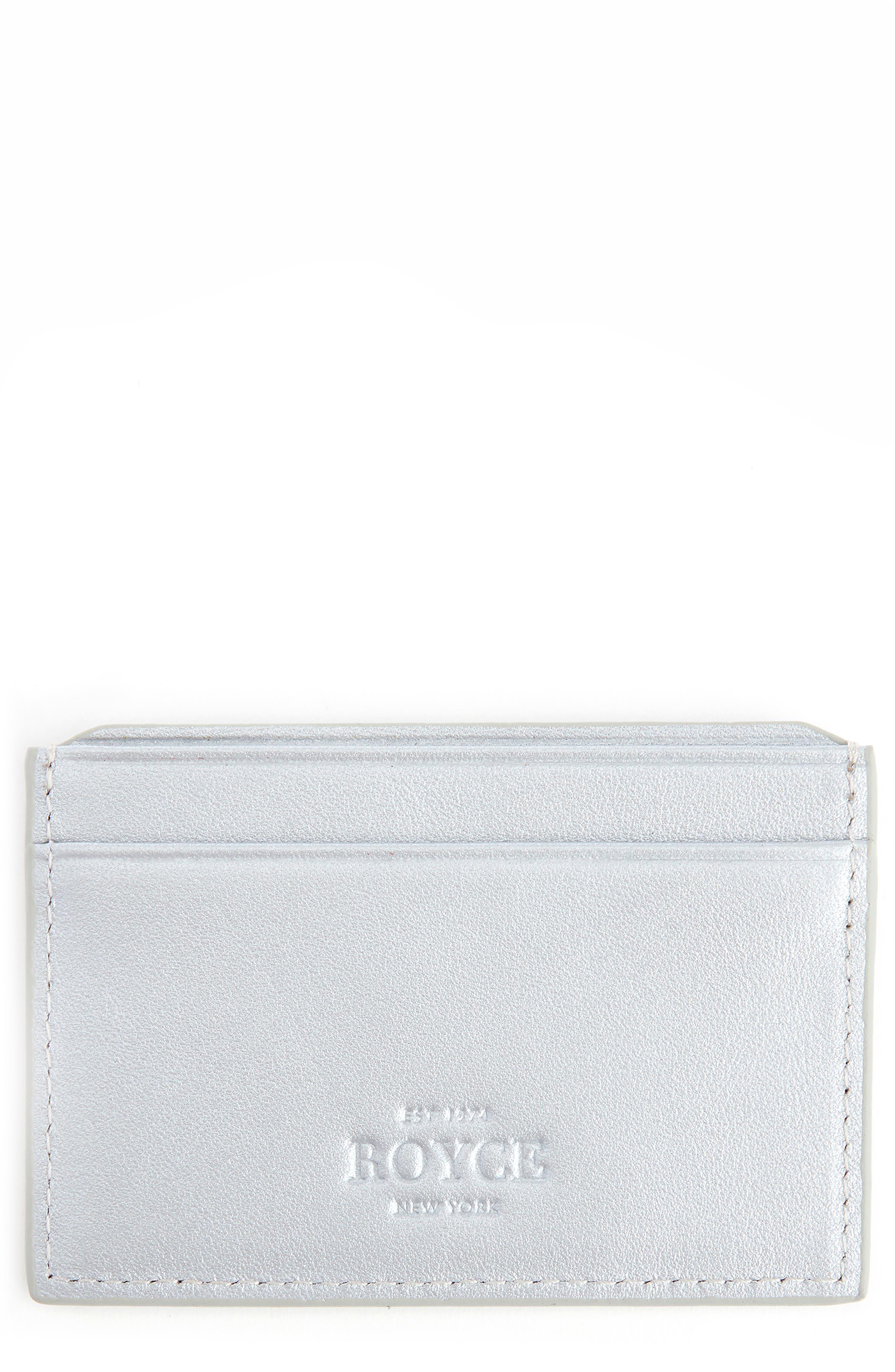 Royce Rfid Leather Card Case - Metallic
