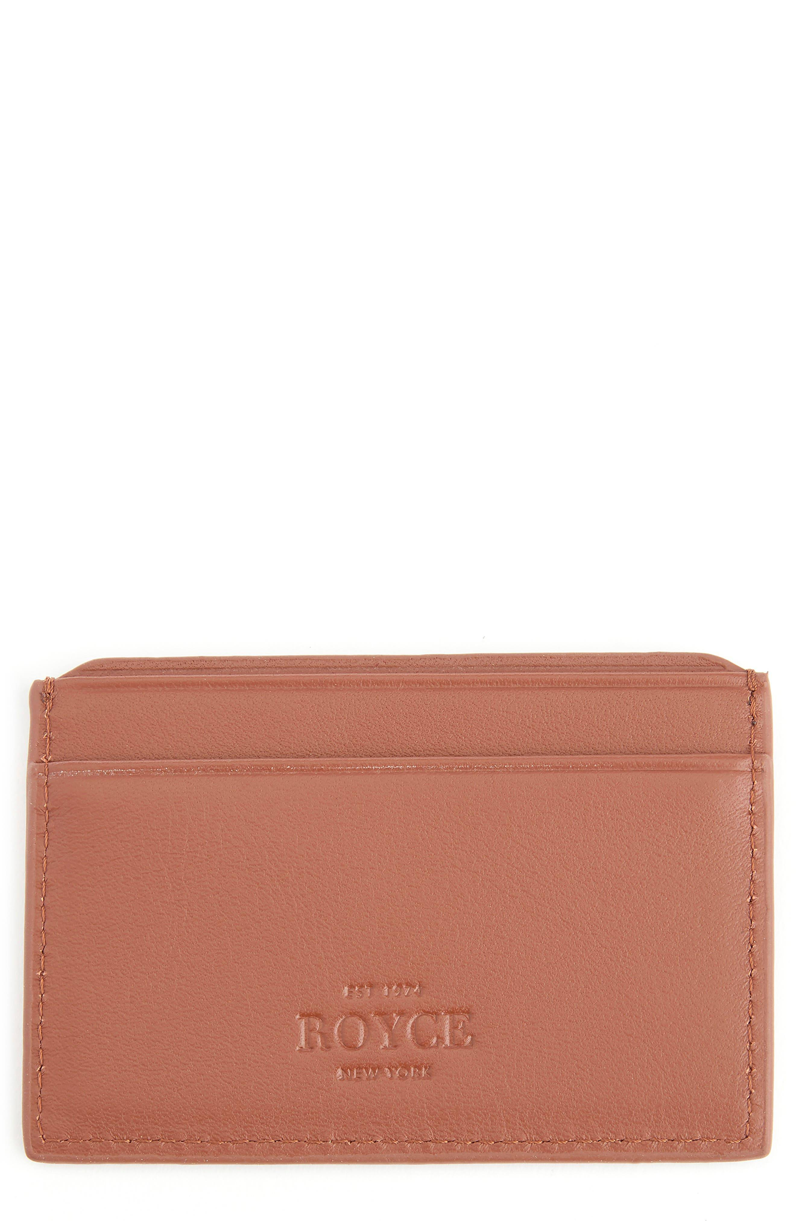 Royce Rfid Leather Card Case - Brown
