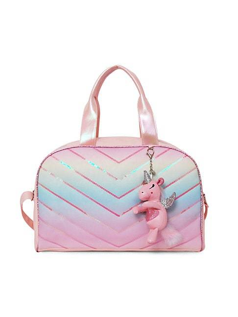 OMG Accessories Kid's Chevron Quilt PVC Duffel Bag  PINK  Not Applicable  size:One Size