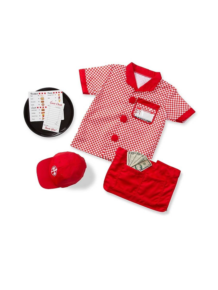 Melissa & Doug Server Role Play Set - Red  Red  female  size:one-size
