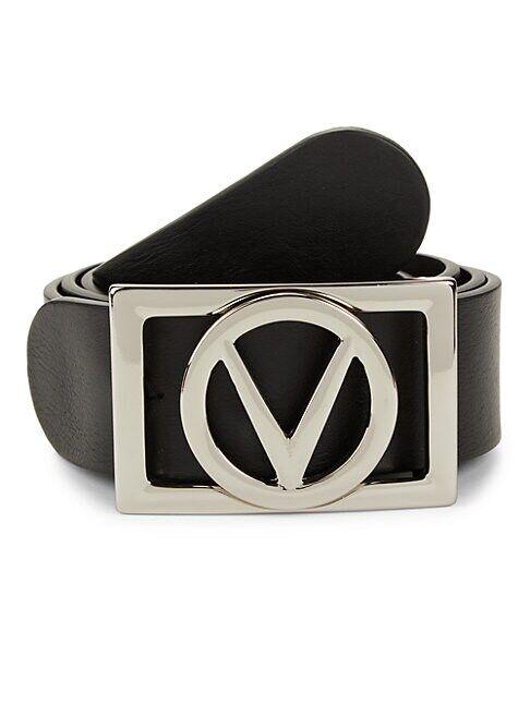 Valentino by Mario Valentino V-Logo Leather Belt  TOBACCO  Men  size:34