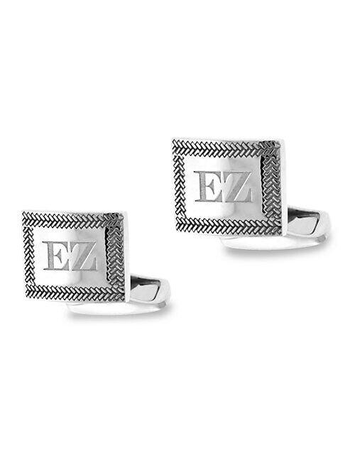Zegna Sterling Silver Herringbone Cufflinks  NO COLOR  Men  size:One Size