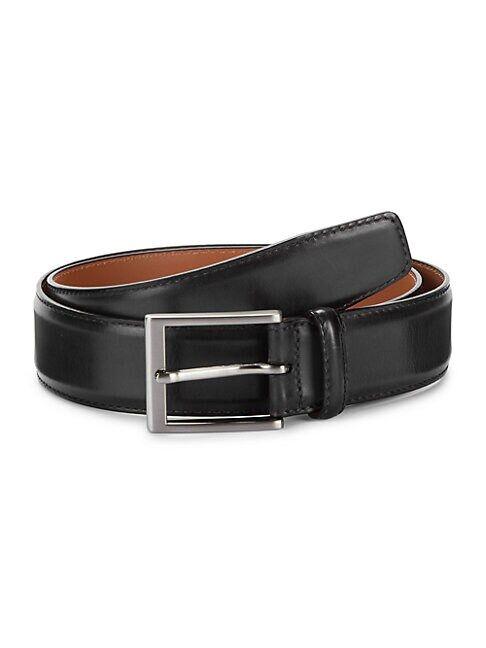 Magnanni Cruzar Leather Belt  GREY  Men  size:36
