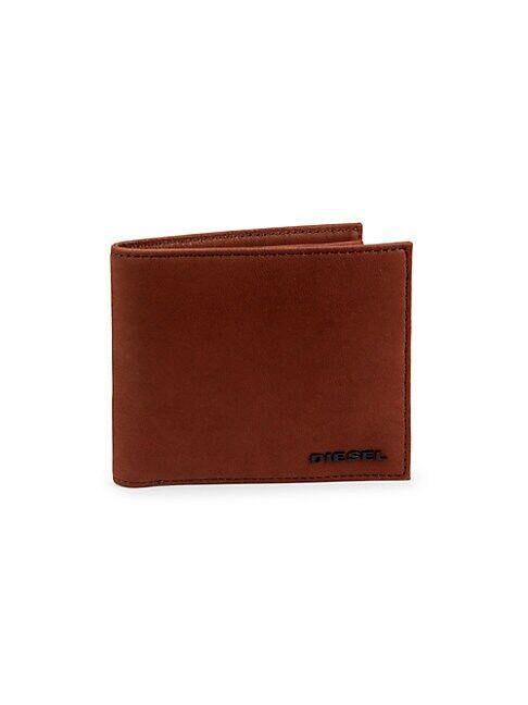 Diesel Granze Hiresh Leather Bi-Fold Wallet  BROWN  Men  size:One Size
