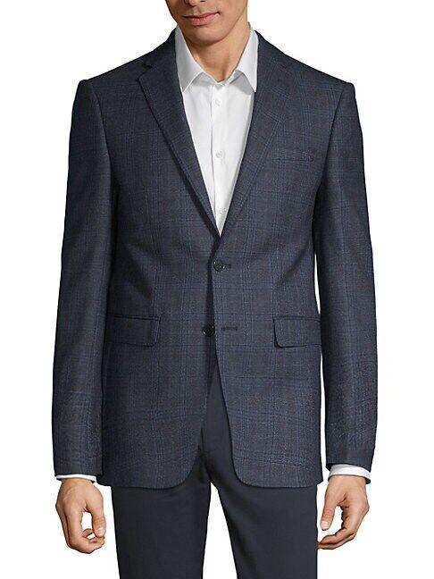 Calvin Klein Slim Fit Windowpane Check Sport Jacket  NAVY  Men  size:40 S
