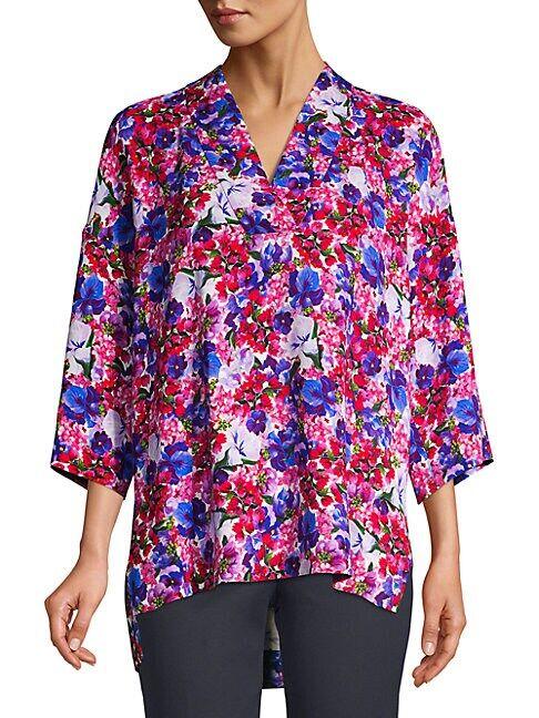 Escada Narineta Floral Print Tunic  PINK  Women  size:36 (6)