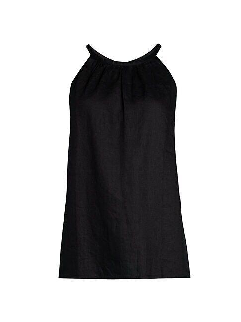 Saks Fifth Avenue Linen Halter Top  GARDEN FLORAL  Women  size:M