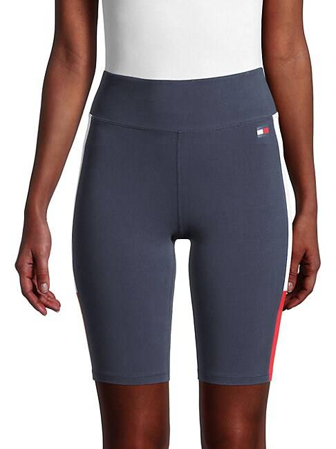 Tommy Hilfiger Sport High-Rise Jersey Bike Shorts  NAVY  Women  size:S