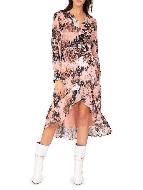 IRO Garden Wrap Dress  NUDE  Women  size:38 (6)