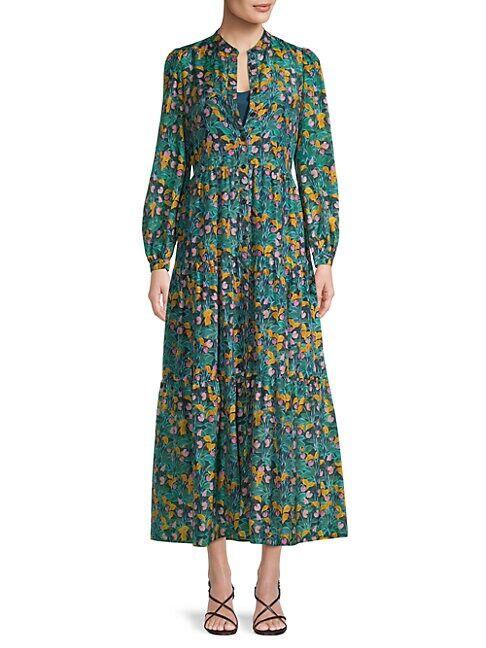Diane von Furstenberg Nea Garden Shirtdress  JARDIN MULTI  Women  size:XXS