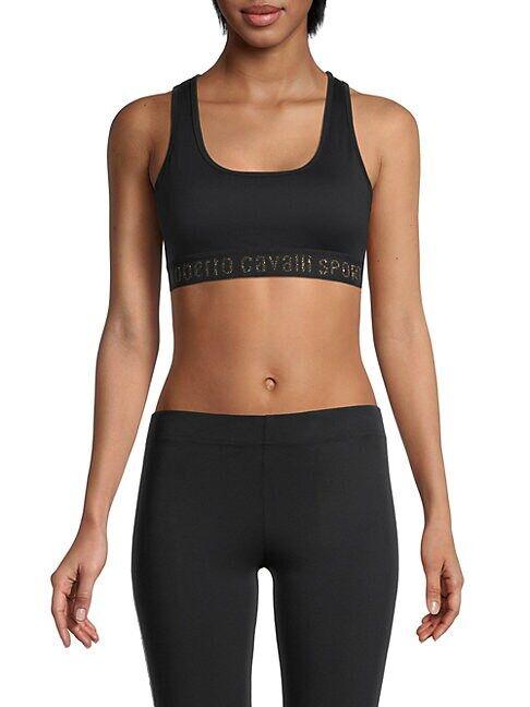 roberto cavalli SPORT Lurex-Accent Sports Bra  BLACK  Women  size:XS