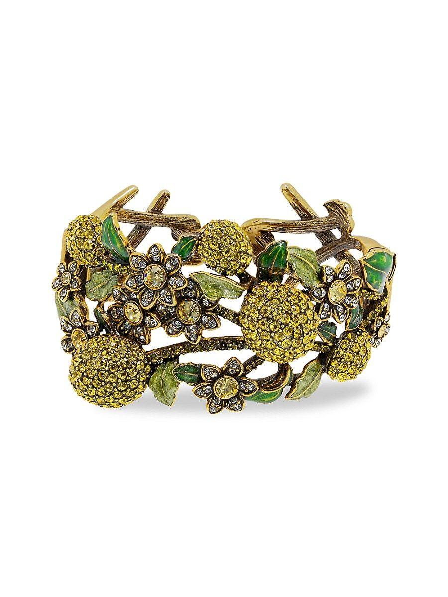 Heidi Daus Women's A Lot of Lemons Crystal Floral Cuff Bracelet  Metal  female  size:one-size