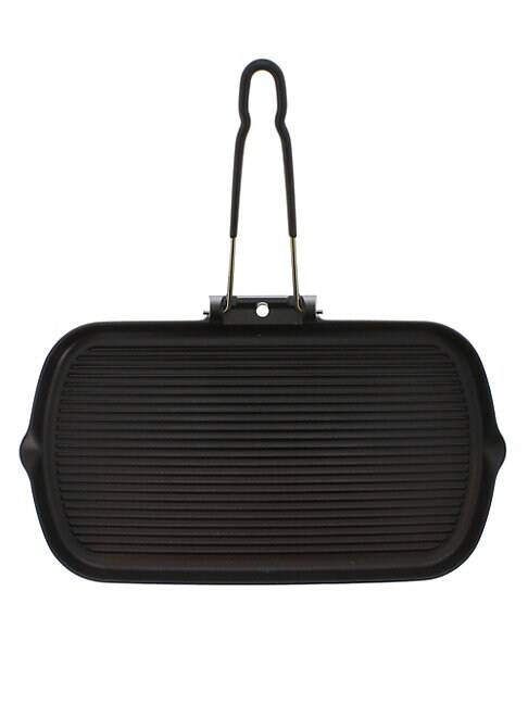 Chasseur French Rectangular Enameled Cast Iron Grill  BLACK  Not Applicable  size:One Size