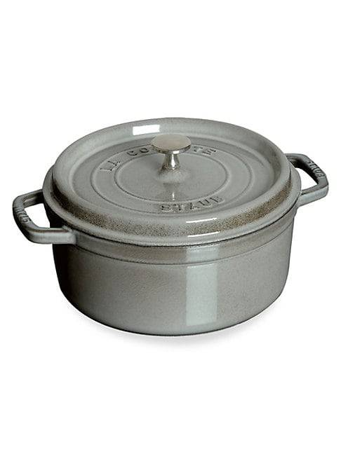 Staub 5.5-Quart Round Cocotte  GRAPHITE GREY  Not Applicable  size:One Size