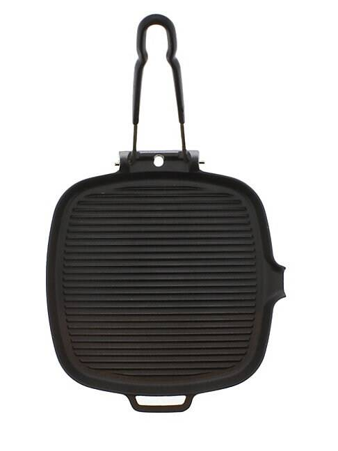 Chasseur Square French Enameled Cast Iron Grill  BLACK  Not Applicable  size:One Size