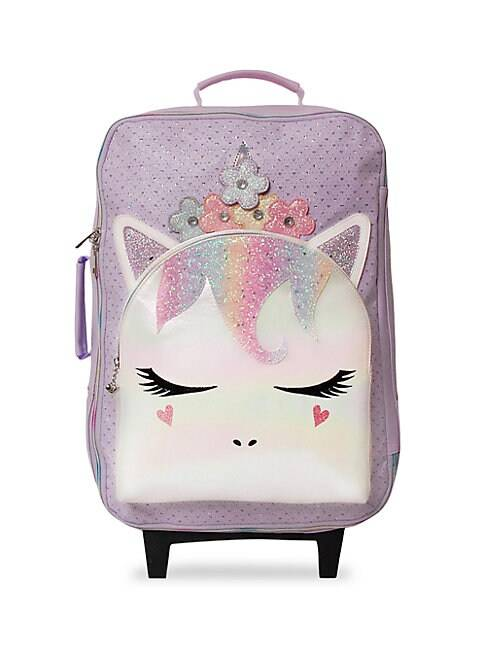 OMG Accessories Kid's Unicorn PVC Suitcase  LAVENDER  Not Applicable  size:One Size