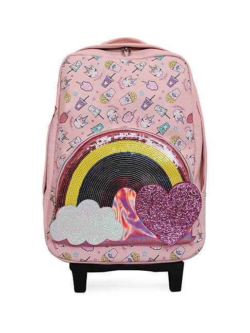 OMG Accessories Kid's Embellished Suitcase  PINK  Not Applicable  size:One Size