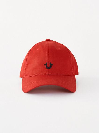 True Religion Men's Logo Baseball Cap   Red/Black   True Religion