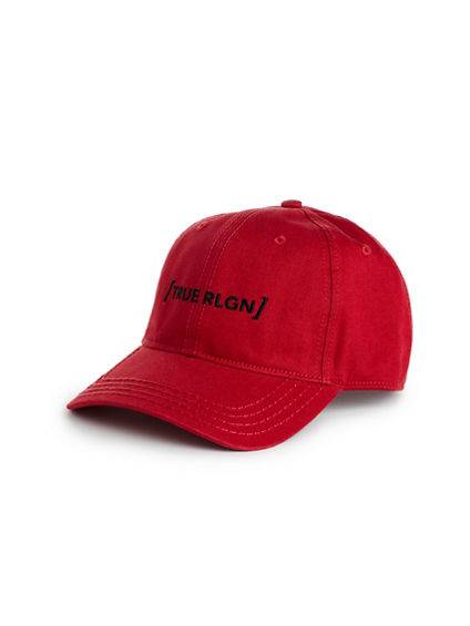 True Religion Men's Bracket Hat   Ruby Red   True Religion
