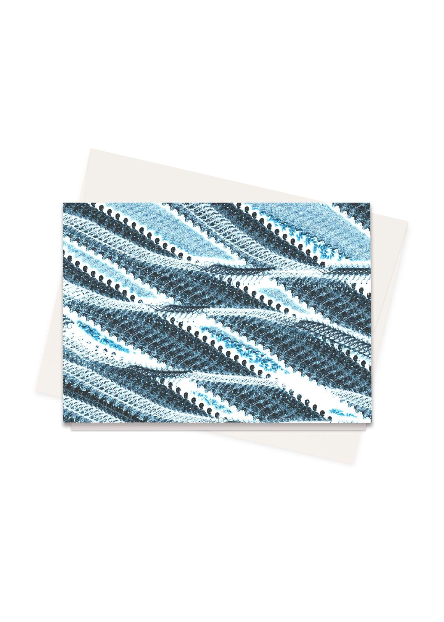 VIDA Greeting Cards Set - Arctic Waves by VIDA Original Artist  - Size: Set of 8