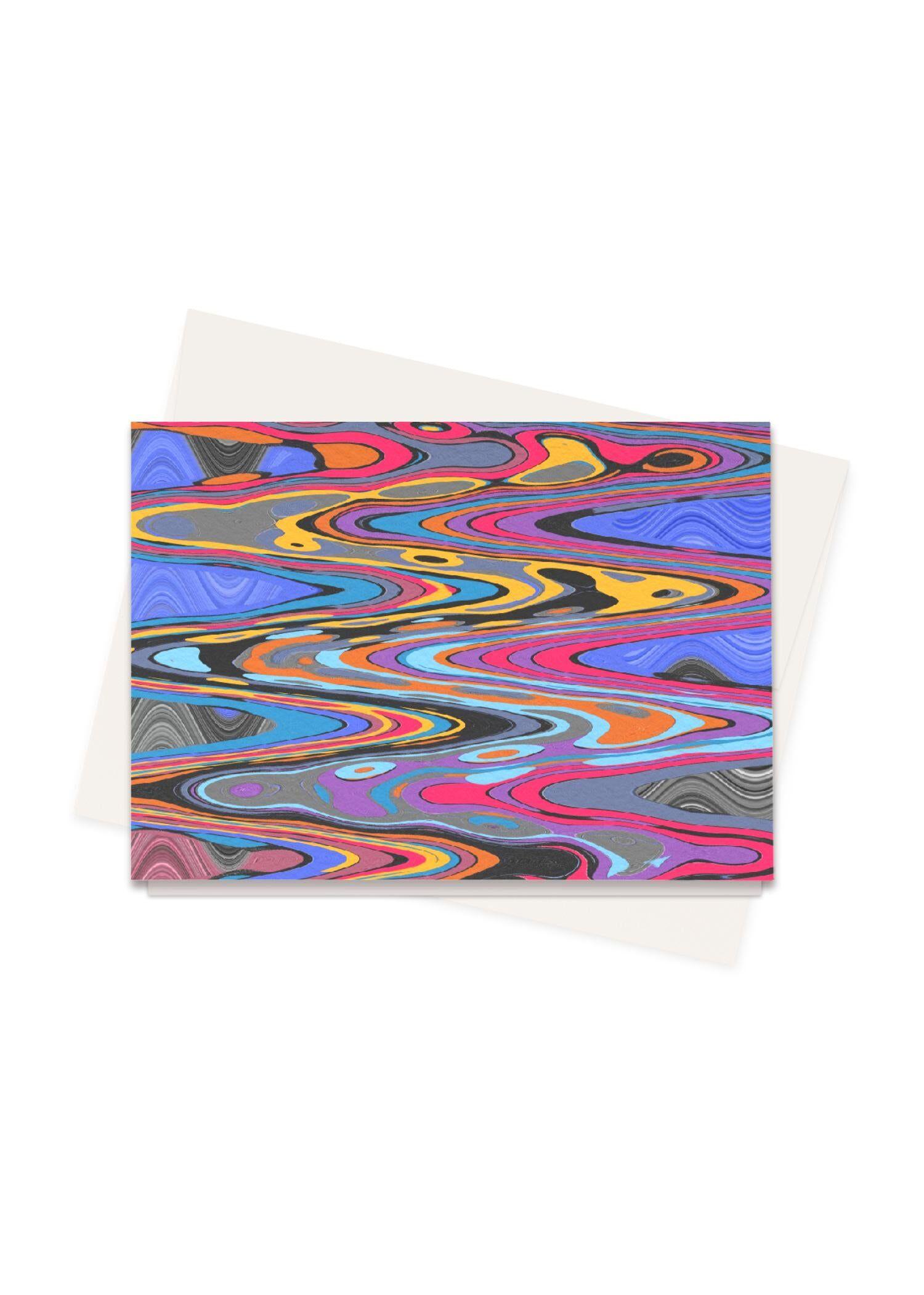 VIDA Greeting Cards Set - Vibration Pop Music 2021 by VIDA Original Artist  - Size: Set of 8
