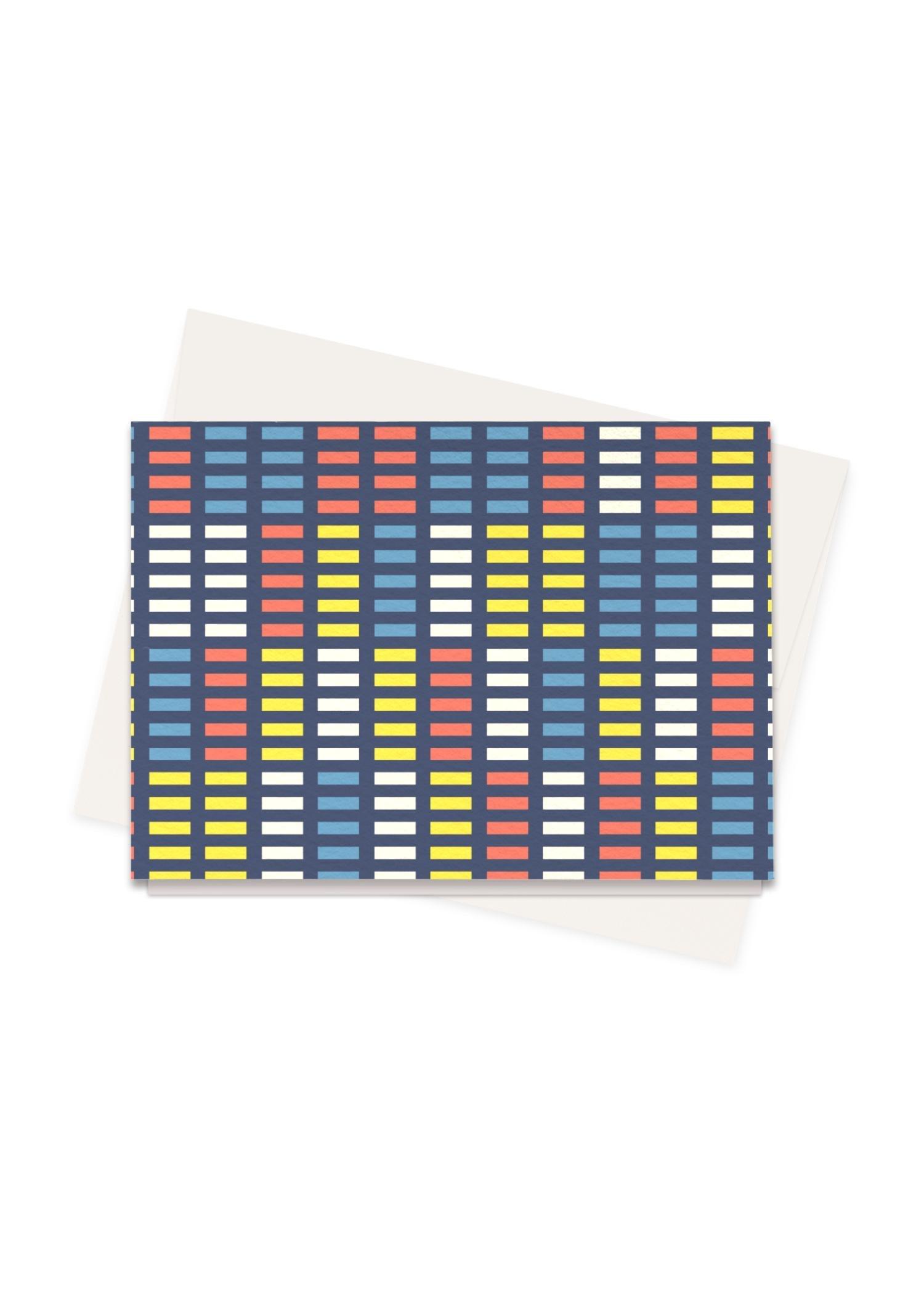 VIDA Greeting Cards Set - Retro Music Equalizer by VIDA Original Artist  - Size: Set of 16
