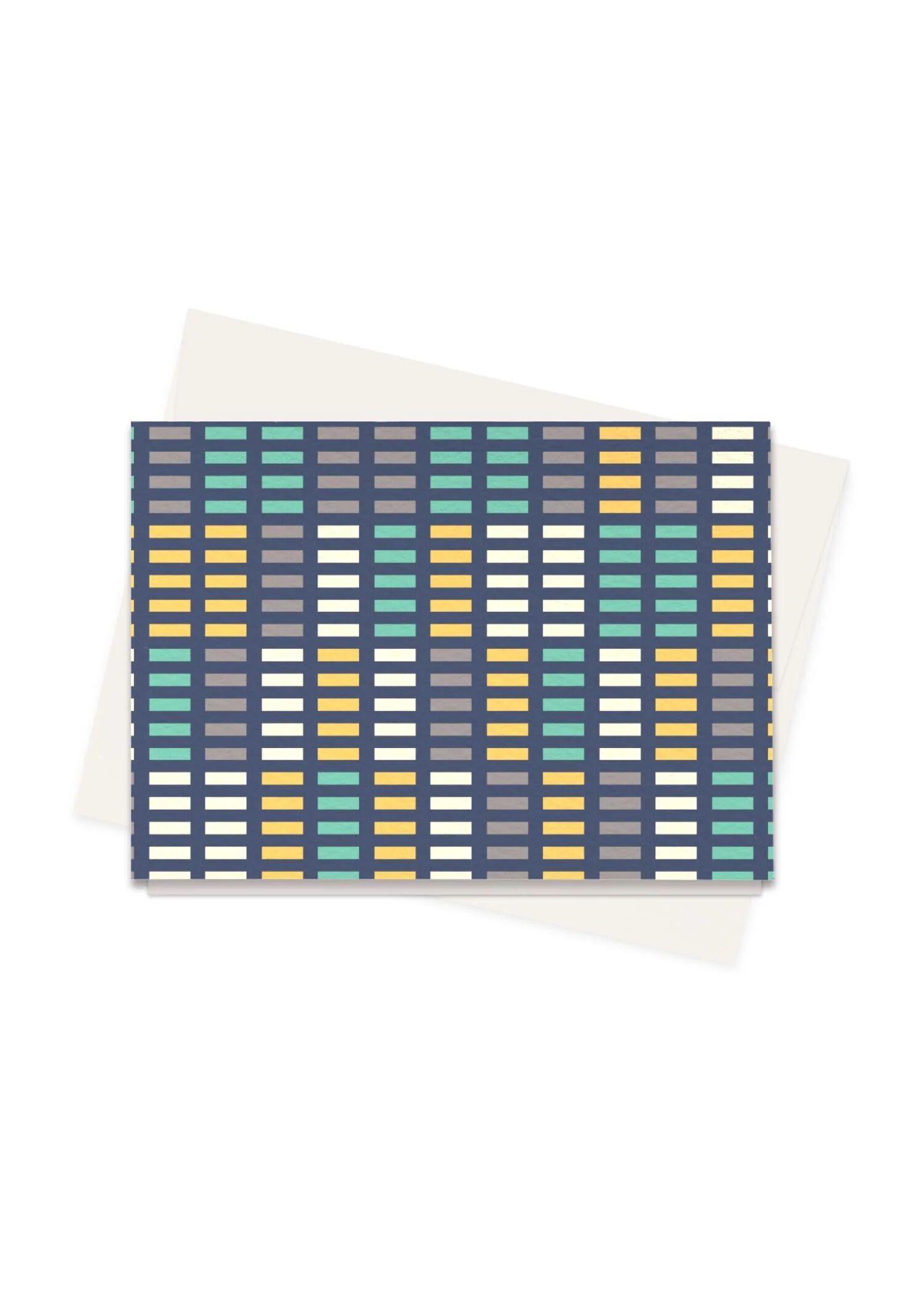 VIDA Greeting Cards Set - Music Equalizer by VIDA Original Artist  - Size: Set of 8