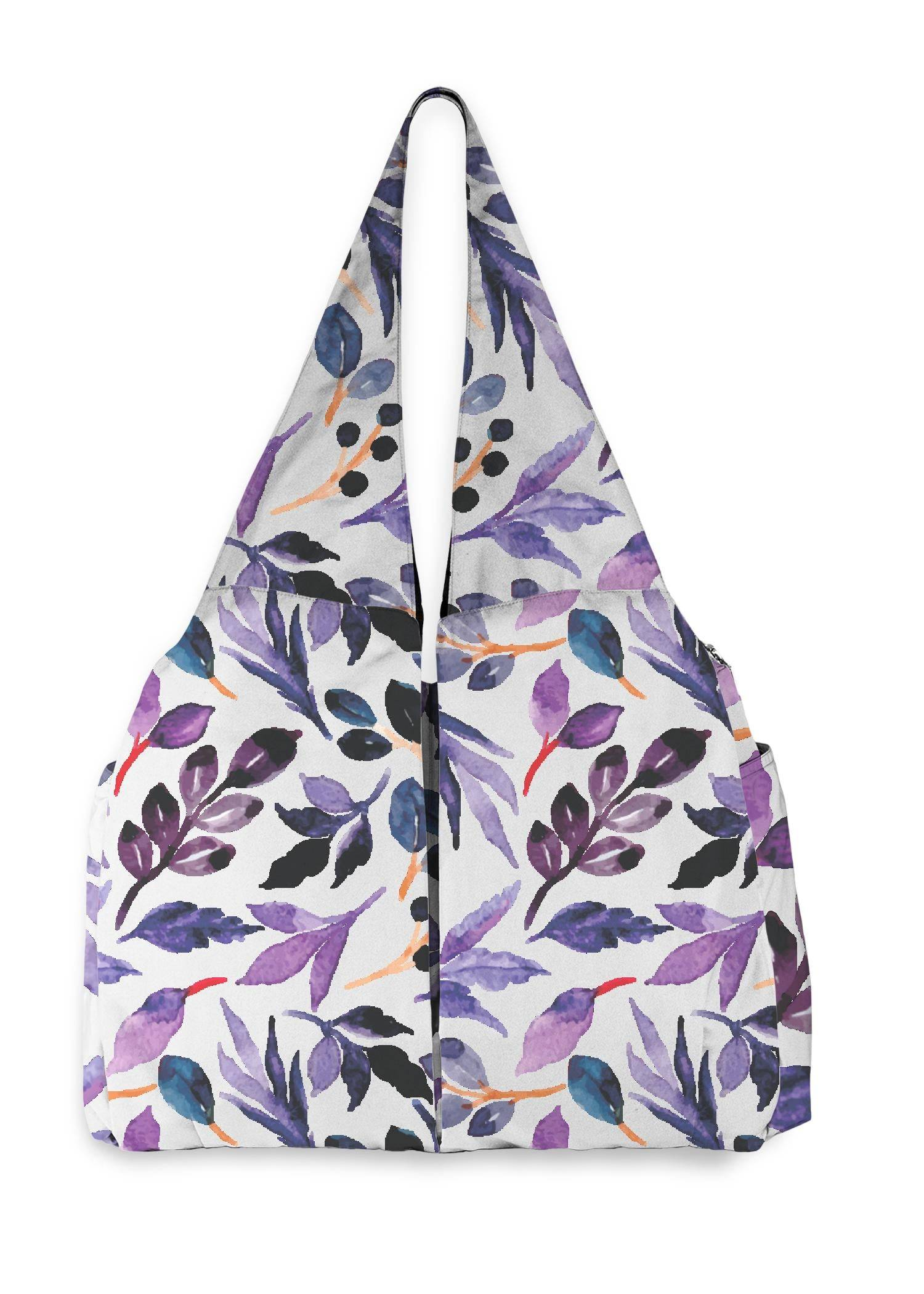 VIDA Studio Bag - Purple Watercolor Garden by VIDA Original Artist  - Size: One Size